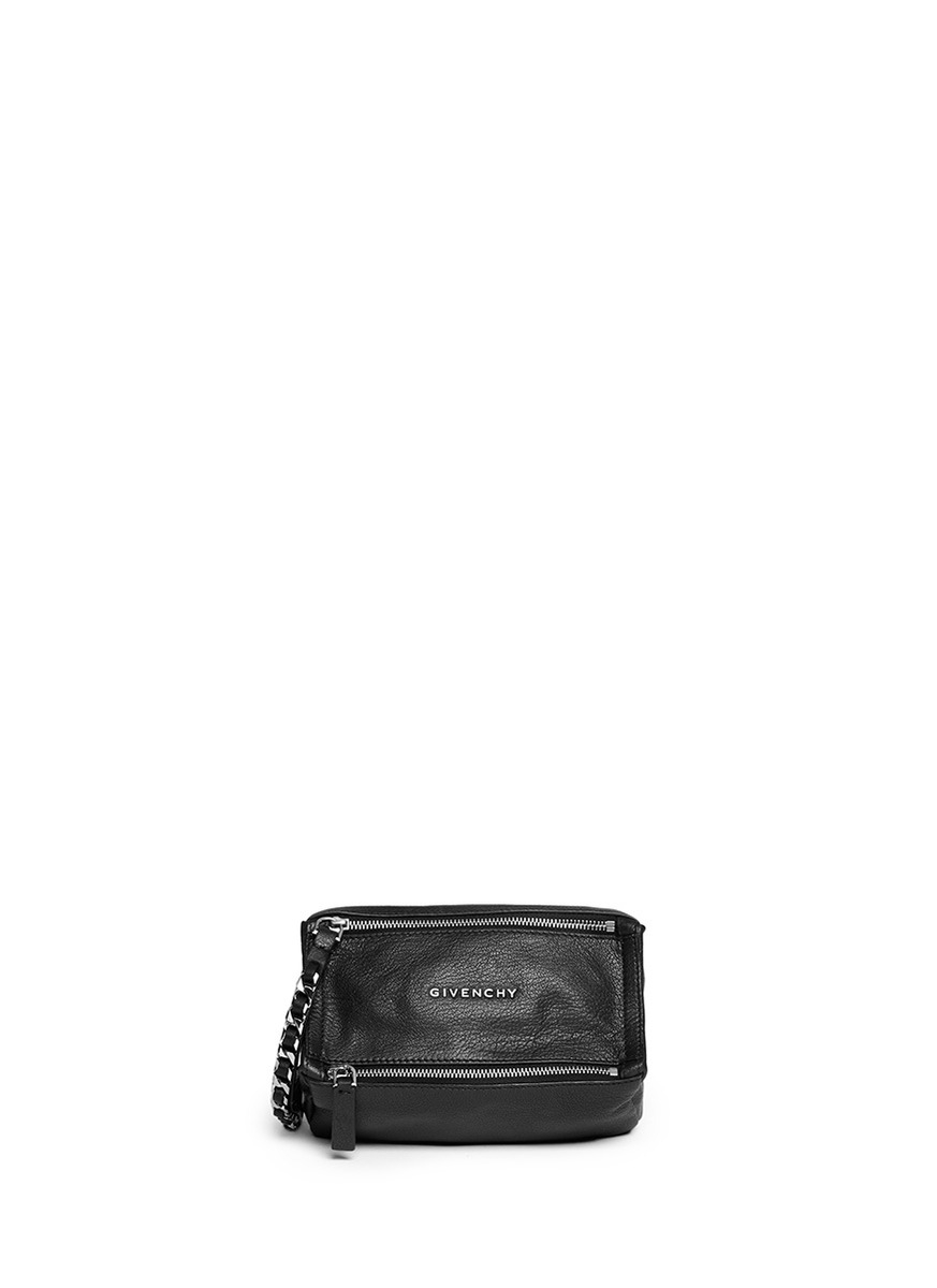 5dbee29437 Givenchy 'pandora' Leather Wristlet Pouch in Black - Lyst