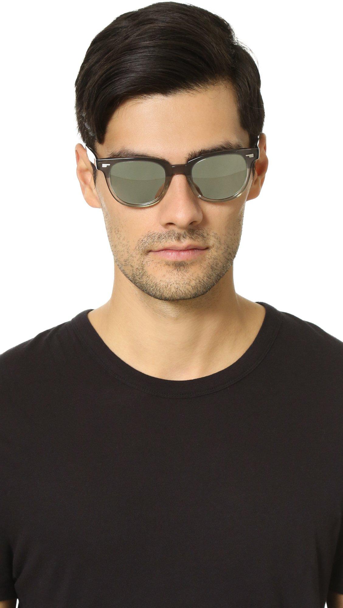 Lyst Oliver Peoples Masek Sunglasses In Metallic For Men