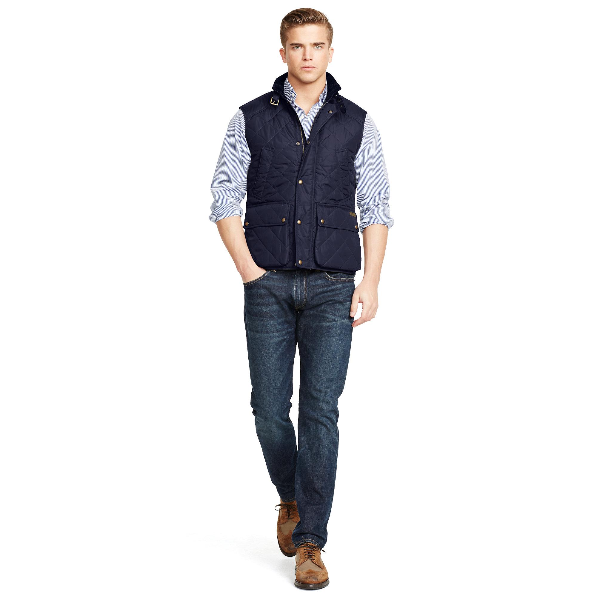 Polo ralph lauren Diamond-quilted Vest in Blue for Men | Lyst : ralph lauren quilted vest mens - Adamdwight.com