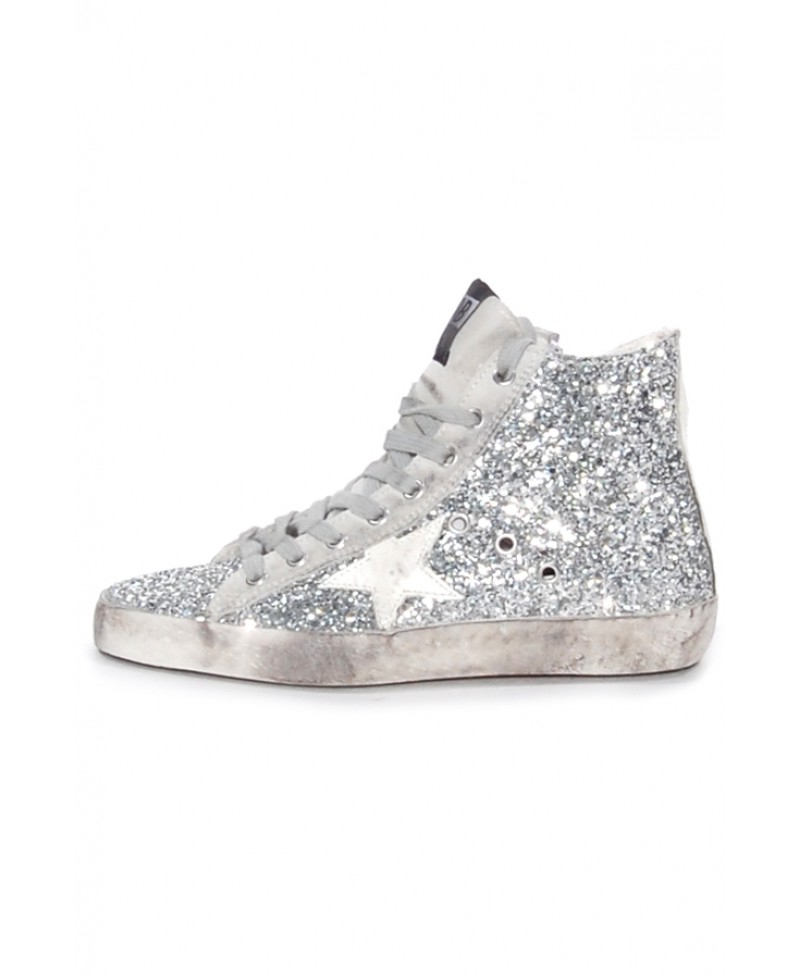 White and Navy Francy High-Top Sneakers Golden Goose p2GpX5