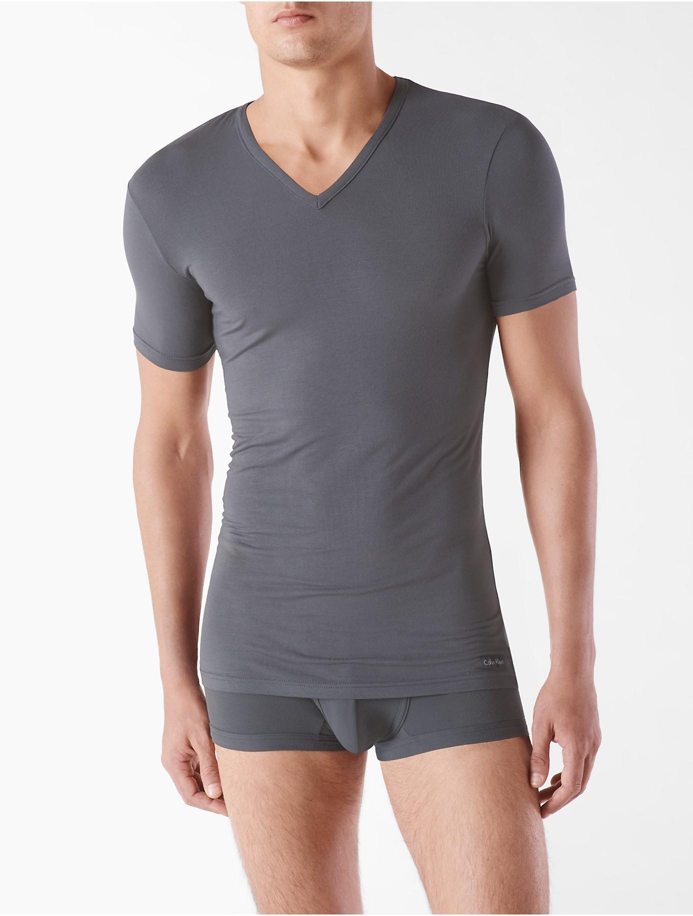 calvin klein gray underwear body modal v neck t shirt for men lyst. Black Bedroom Furniture Sets. Home Design Ideas