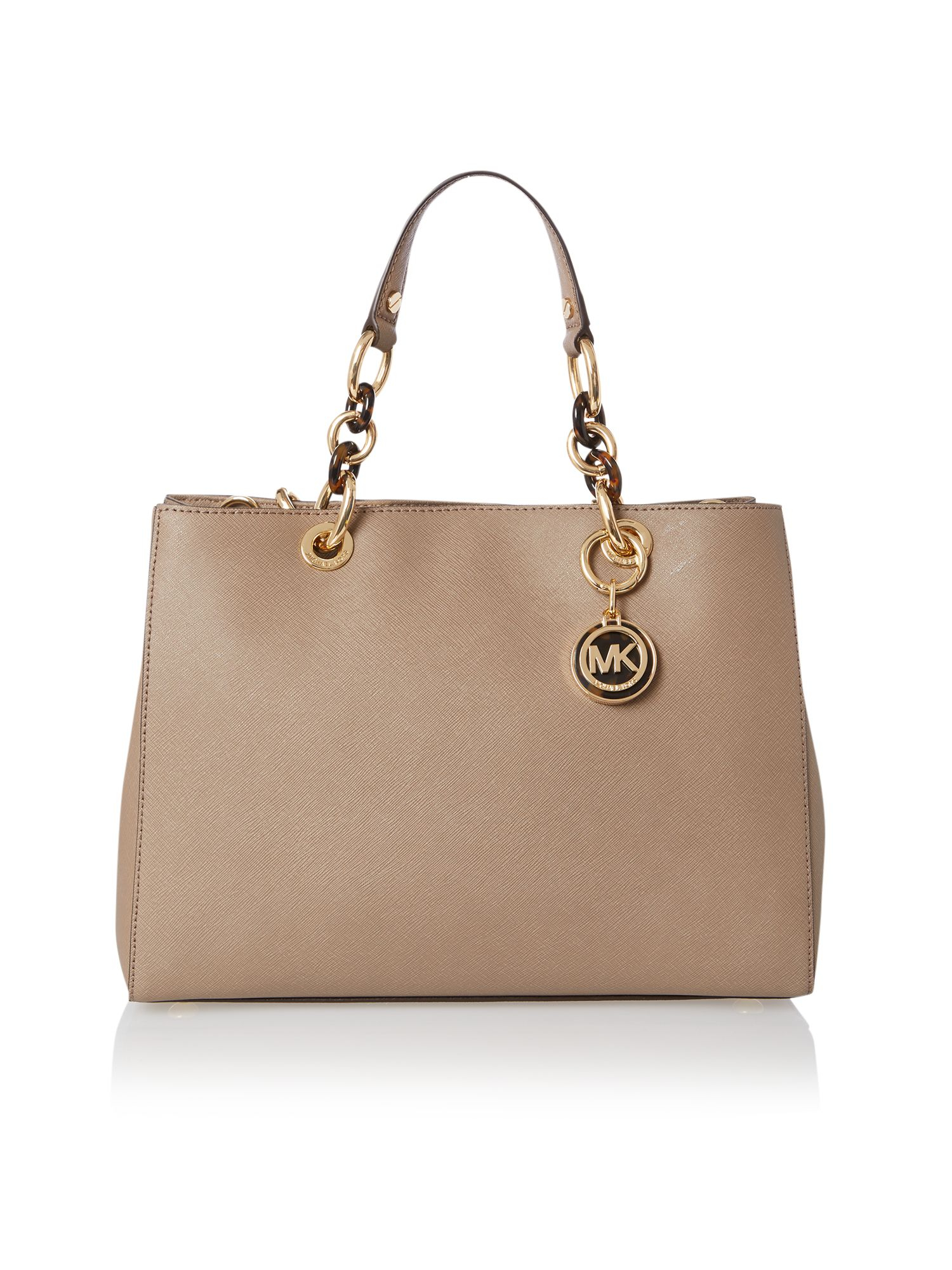 d92651752f ... best price michael kors cynthia sand tote bag in natural lyst 6f6b6  3c6fb
