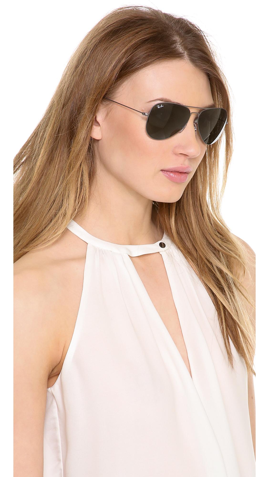 womens ray ban aviator sunglasses ygda  ray ban highstreet 57mm sunglasses women