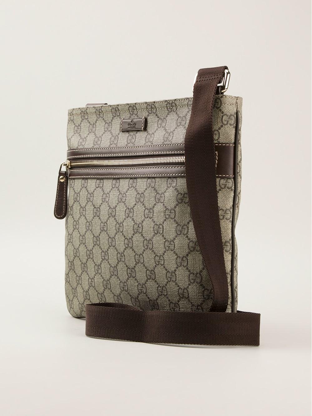 c3424bd028350e Gucci Monogram Crossbody Bag for Men - Lyst
