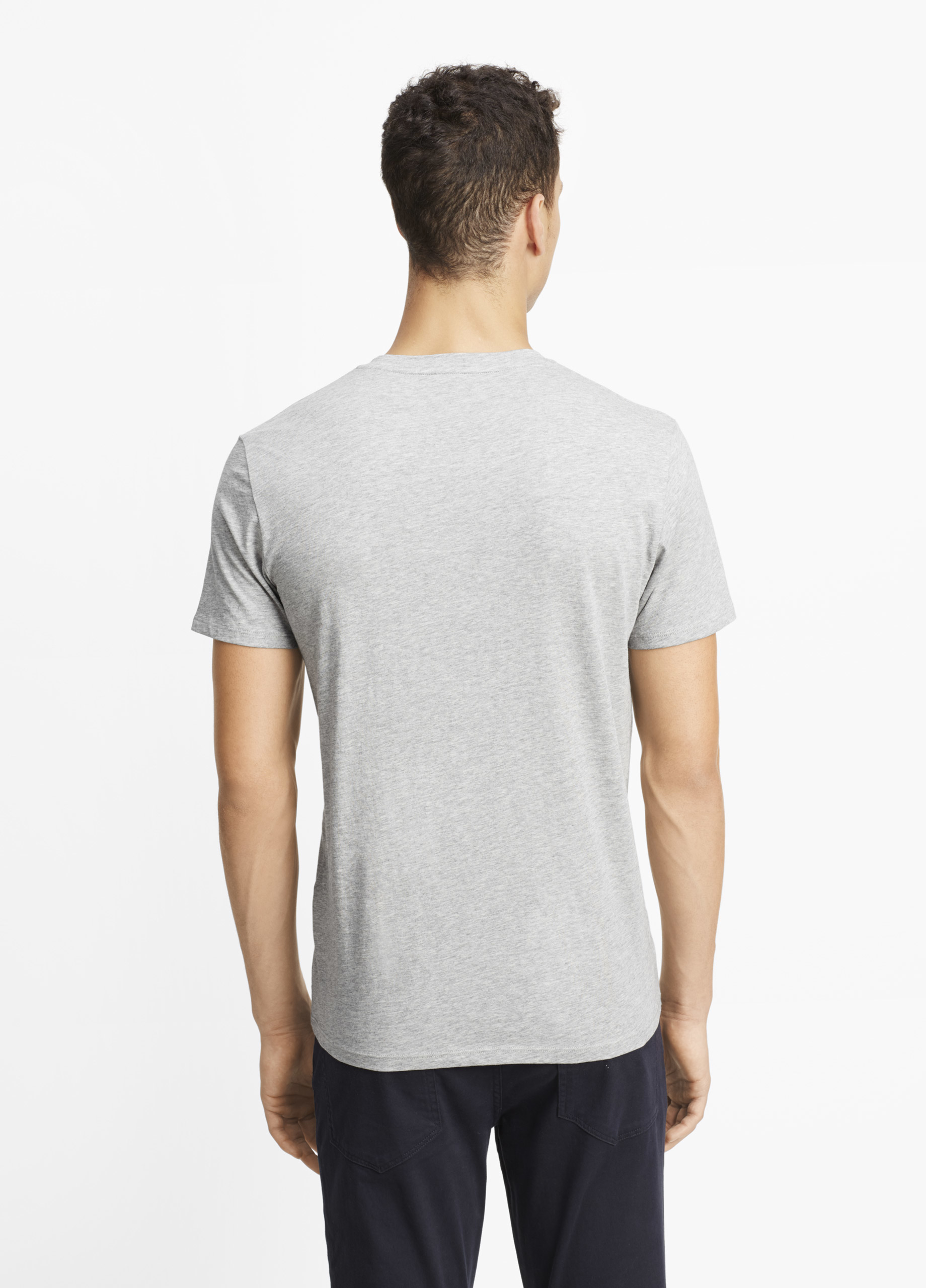 Vince Pima Cotton V Neck Tee In Gray For Men Lyst