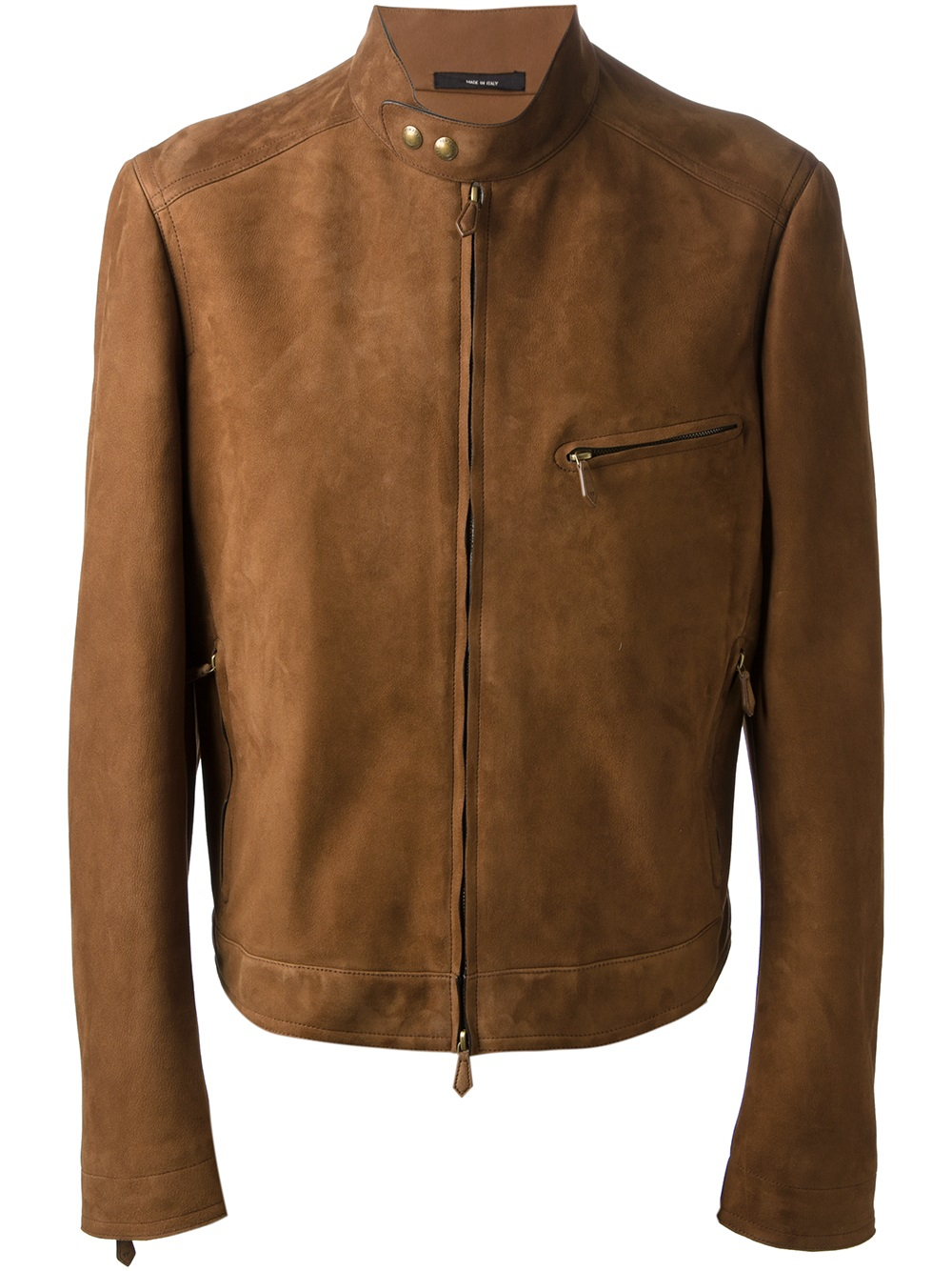 Tom wolfe leather jacket