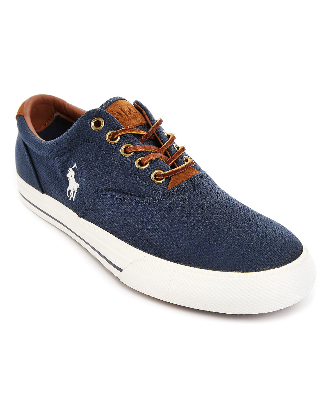 polo ralph lauren vaughn woven navy blue sneakers in blue for men. Black Bedroom Furniture Sets. Home Design Ideas