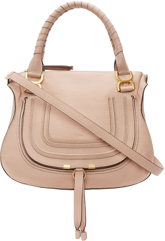 Chlo¨¦ Pink Leather Medium Marcie Bag in Pink   Lyst