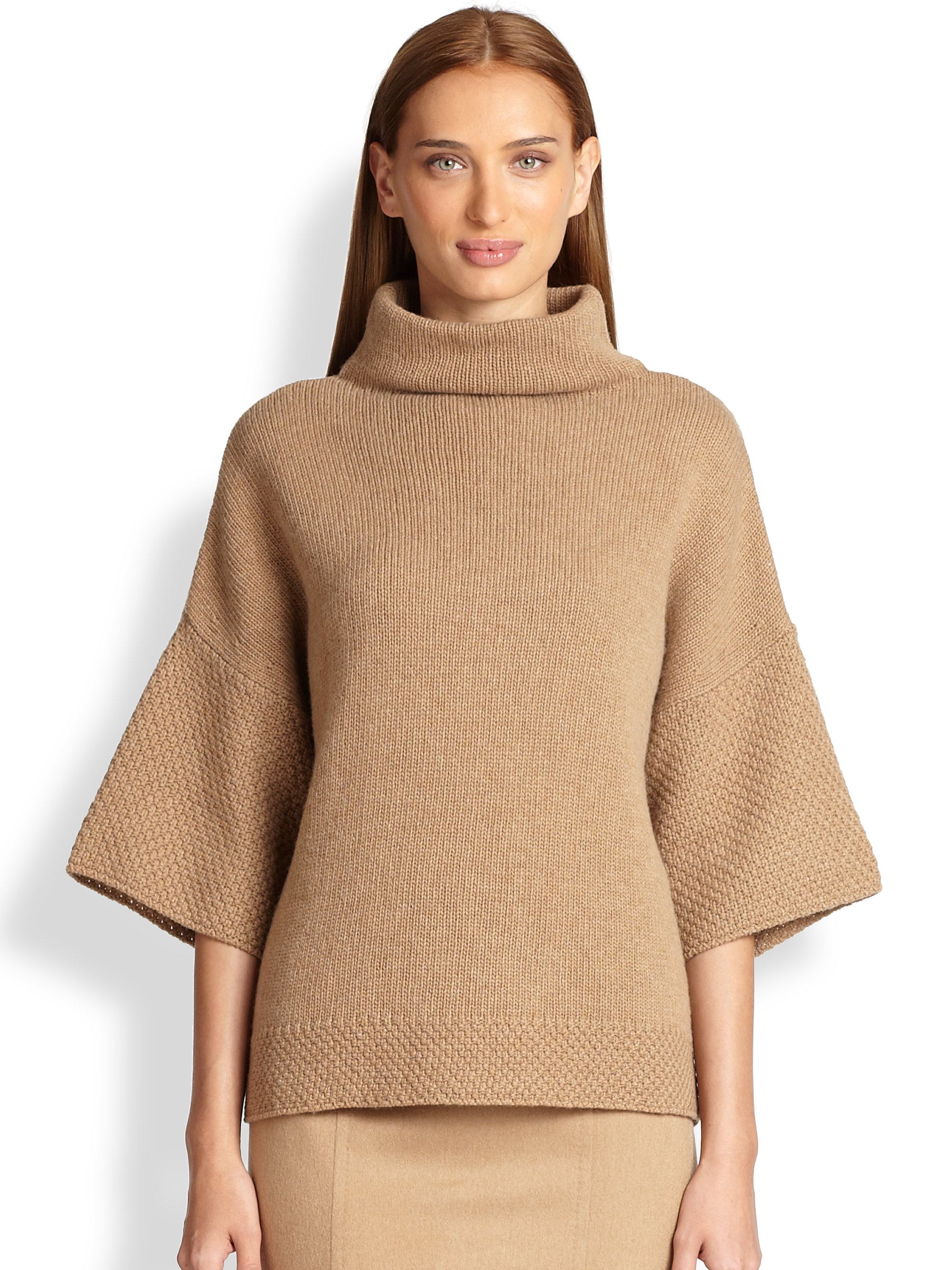 Max mara Titania Wool & Cashmere Sweater in Natural | Lyst