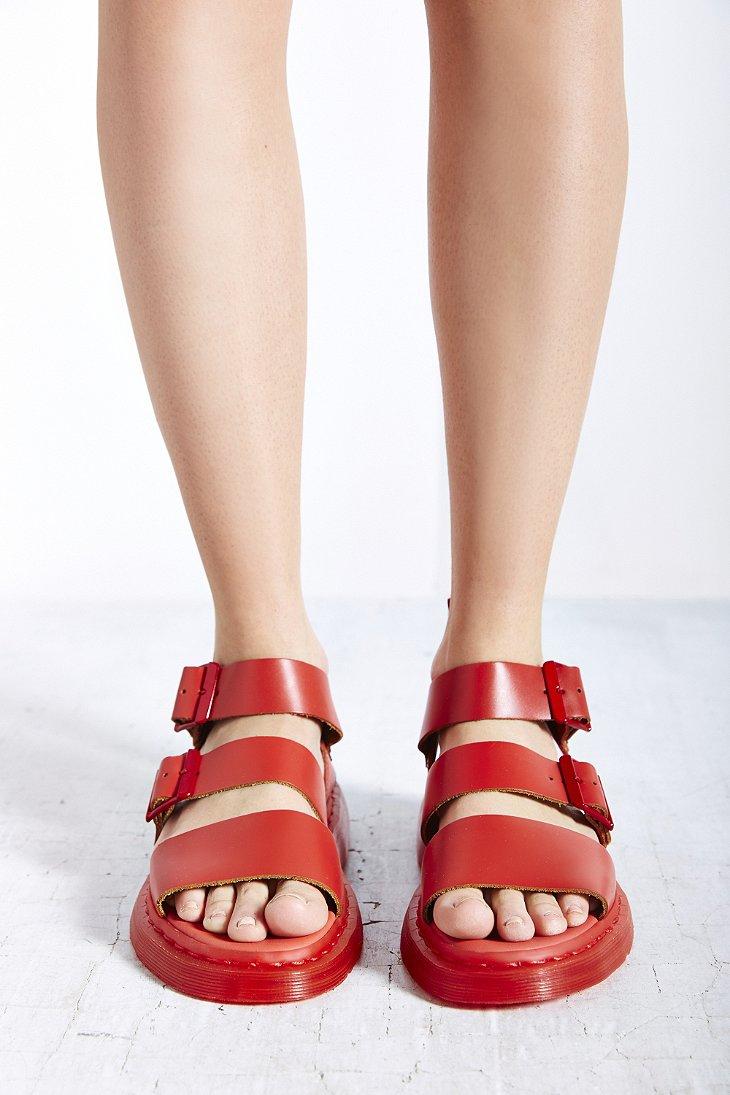 02fb33039ff Lyst - Dr. Martens Gryphon Strap Sandal in Red