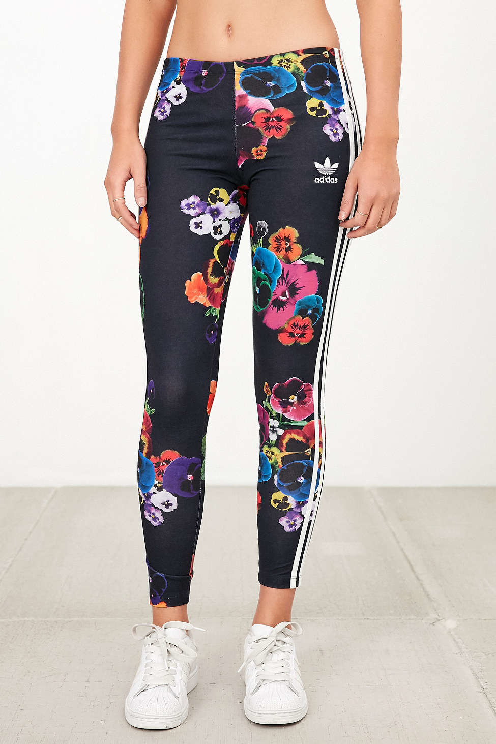 adidas floral tights