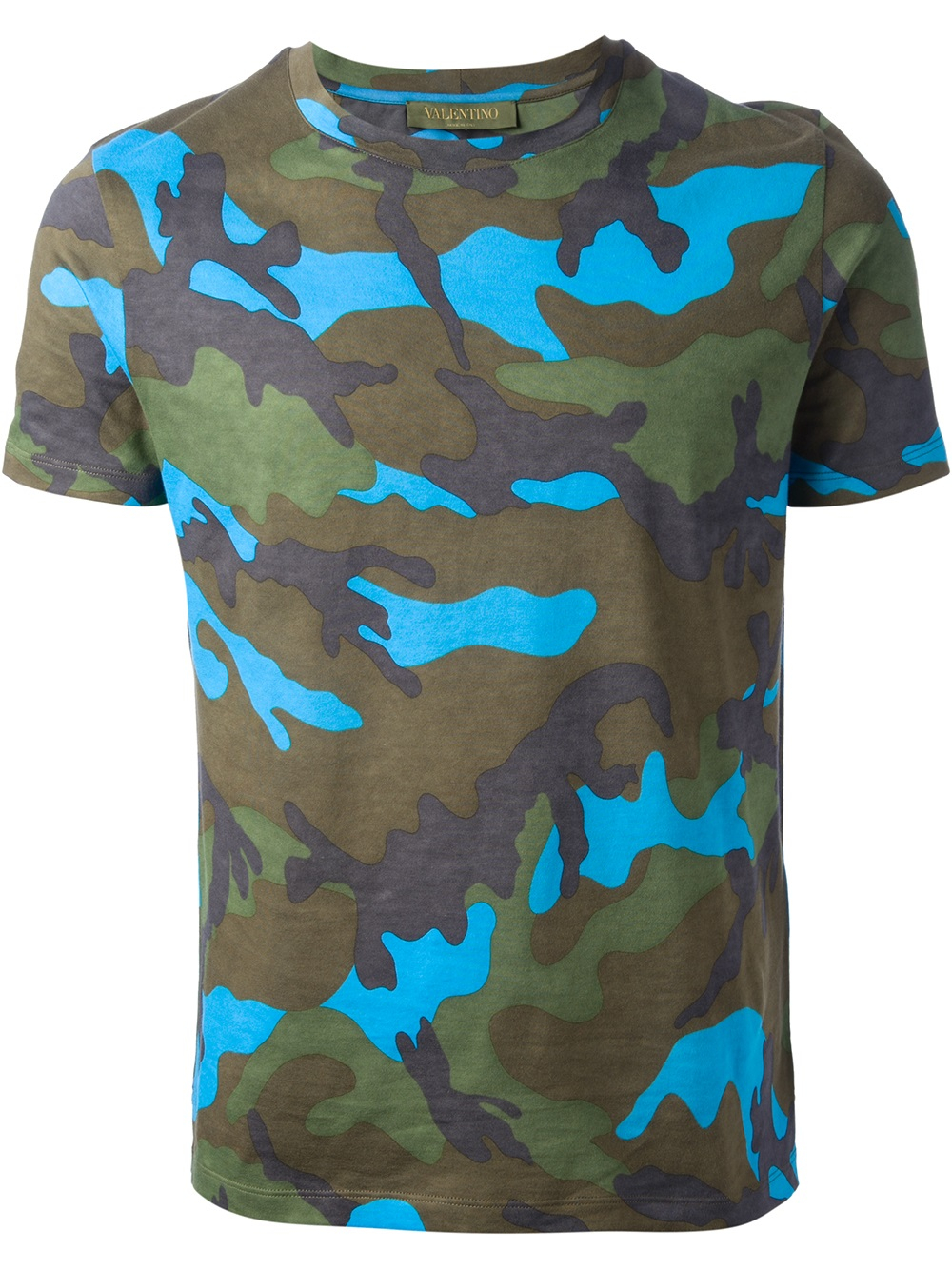 Lyst Valentino Camouflage Print Tshirt In Green For Men