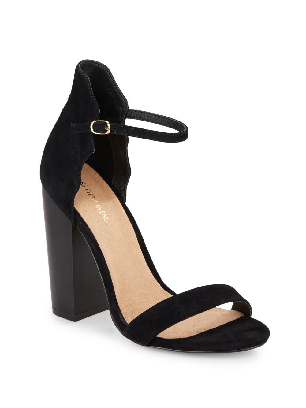 7f22c6c97b31 Lyst - Saks Fifth Avenue Suede Sandals in Black
