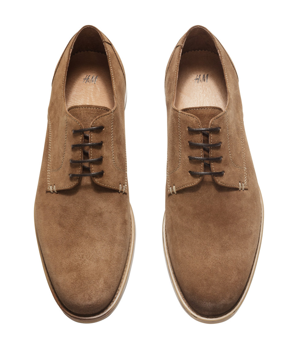 H Amp M Suede Derby Shoes In Brown For Men Lyst