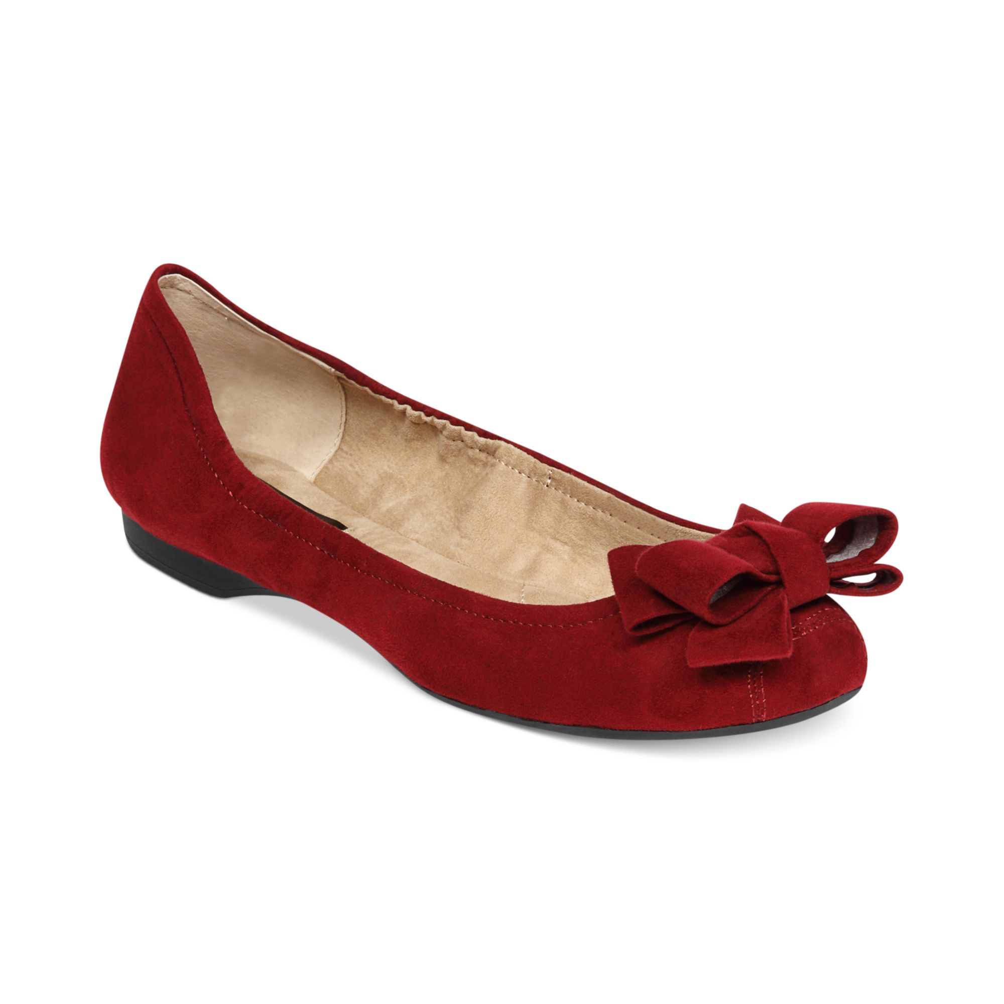Lyst Jessica Simpson Milee Bow Flats In Red