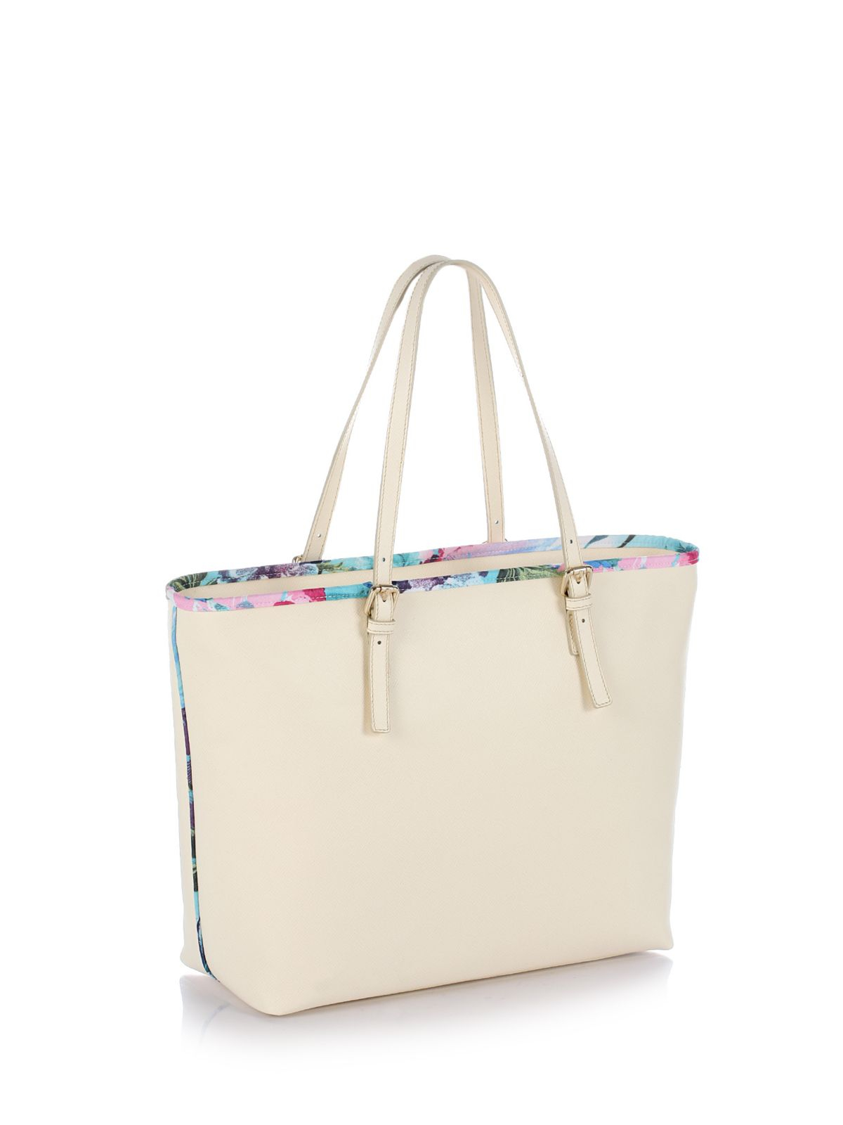 Guess Summer Tropical Shopper Bag in Natural