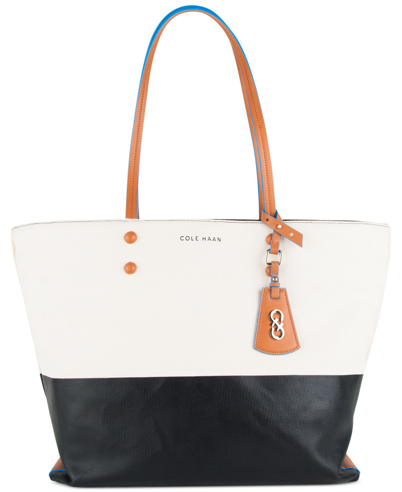 cadf5b6fe8 Cole Haan Colorblock Hannah Tote in Black - Lyst