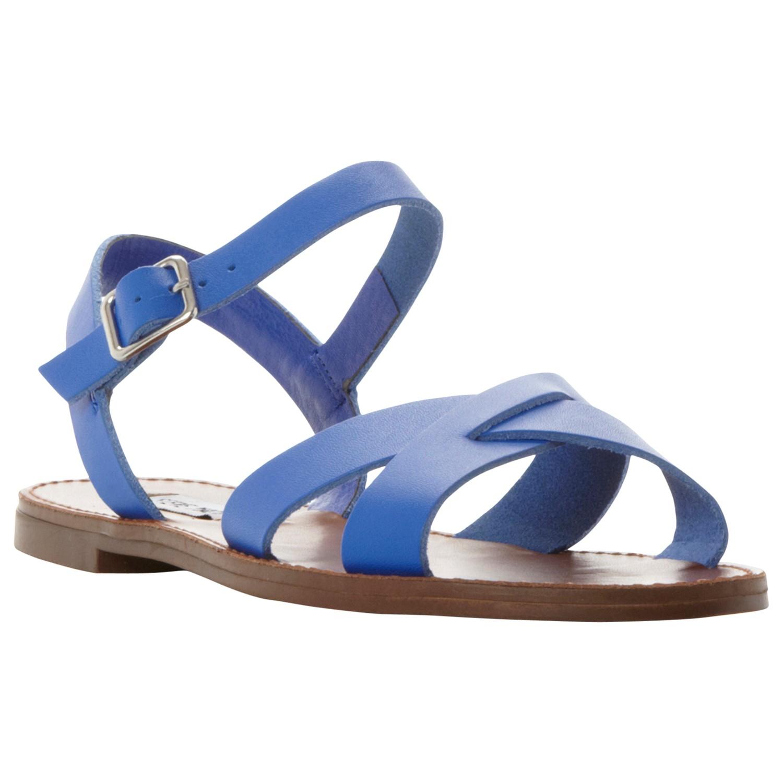 Steve Madden Dublin Cross Strap Flat Sandals in Blue - Lyst