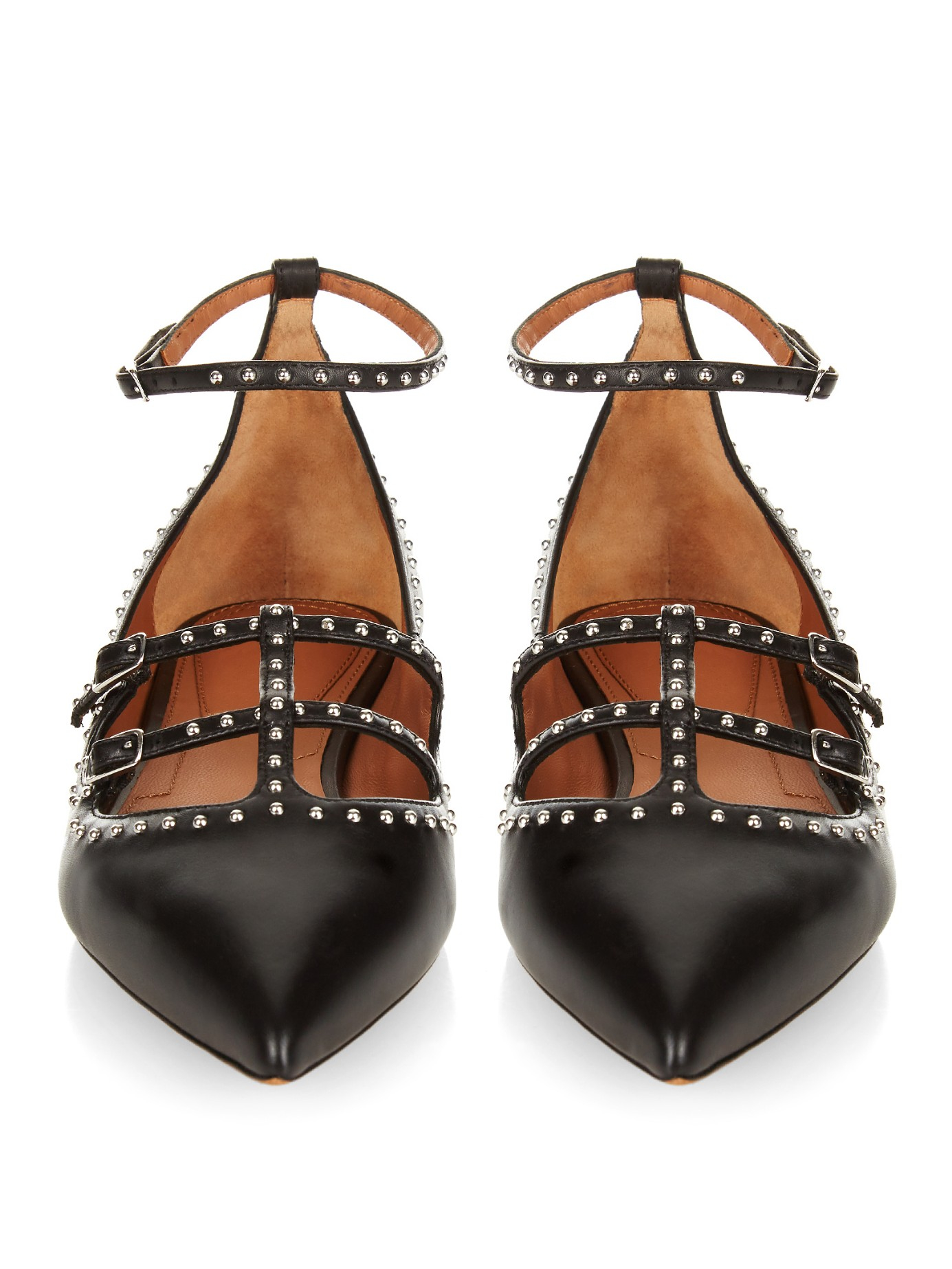 purchase online Givenchy Embellished Leather Flats free shipping low shipping fee gIKID0s7