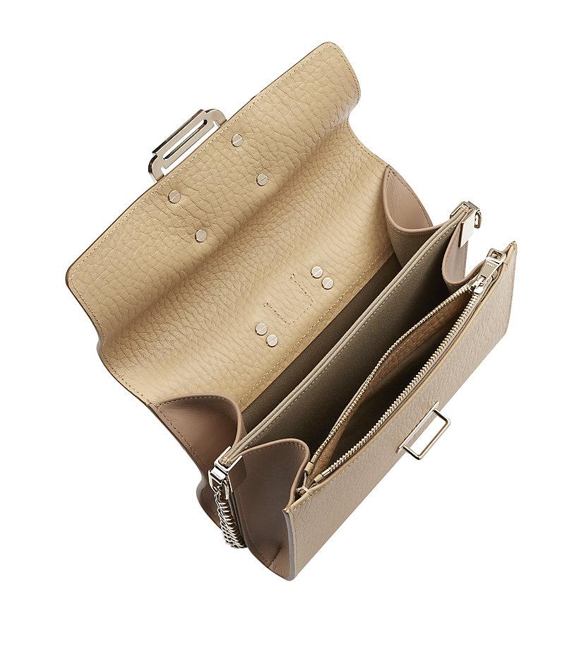 Chlo�� Bronte Chain Small Shoulder Bag in Beige | Lyst
