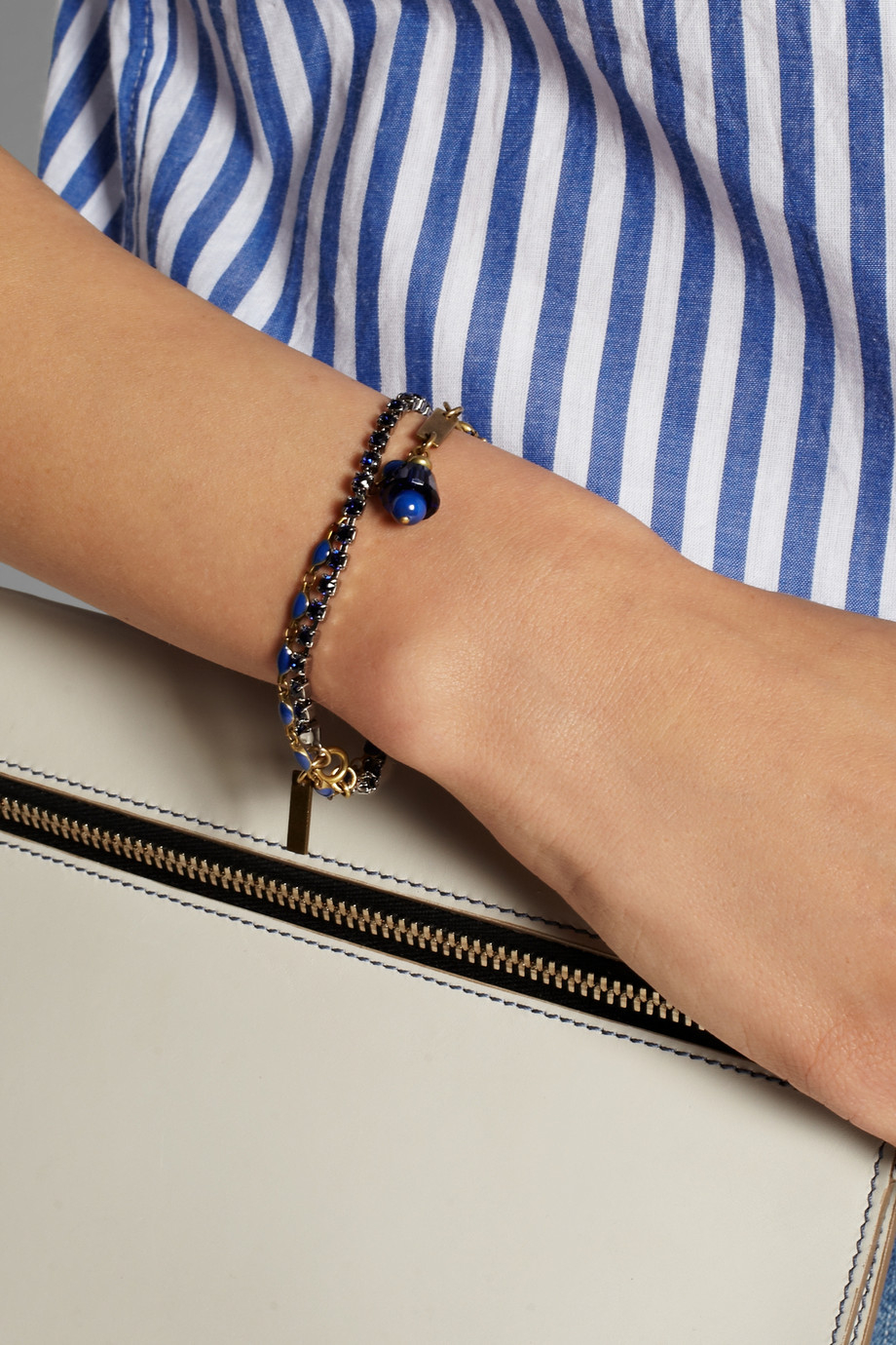 a92e9935be Isabel Marant Set Of Two Gold-Tone, Crystal And Enamel Bracelets in ...