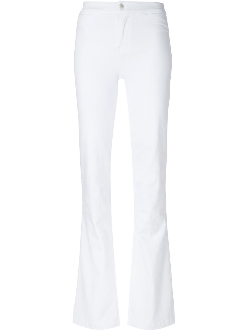 J brand Flared Jeans in White | Lyst