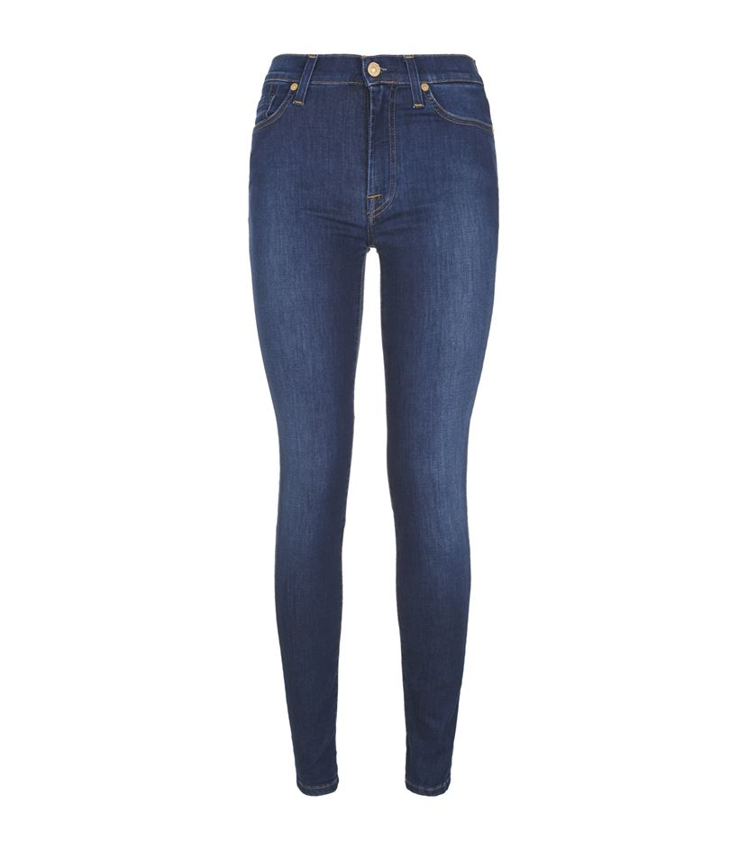 7 for all mankind high waist skinny jeans two
