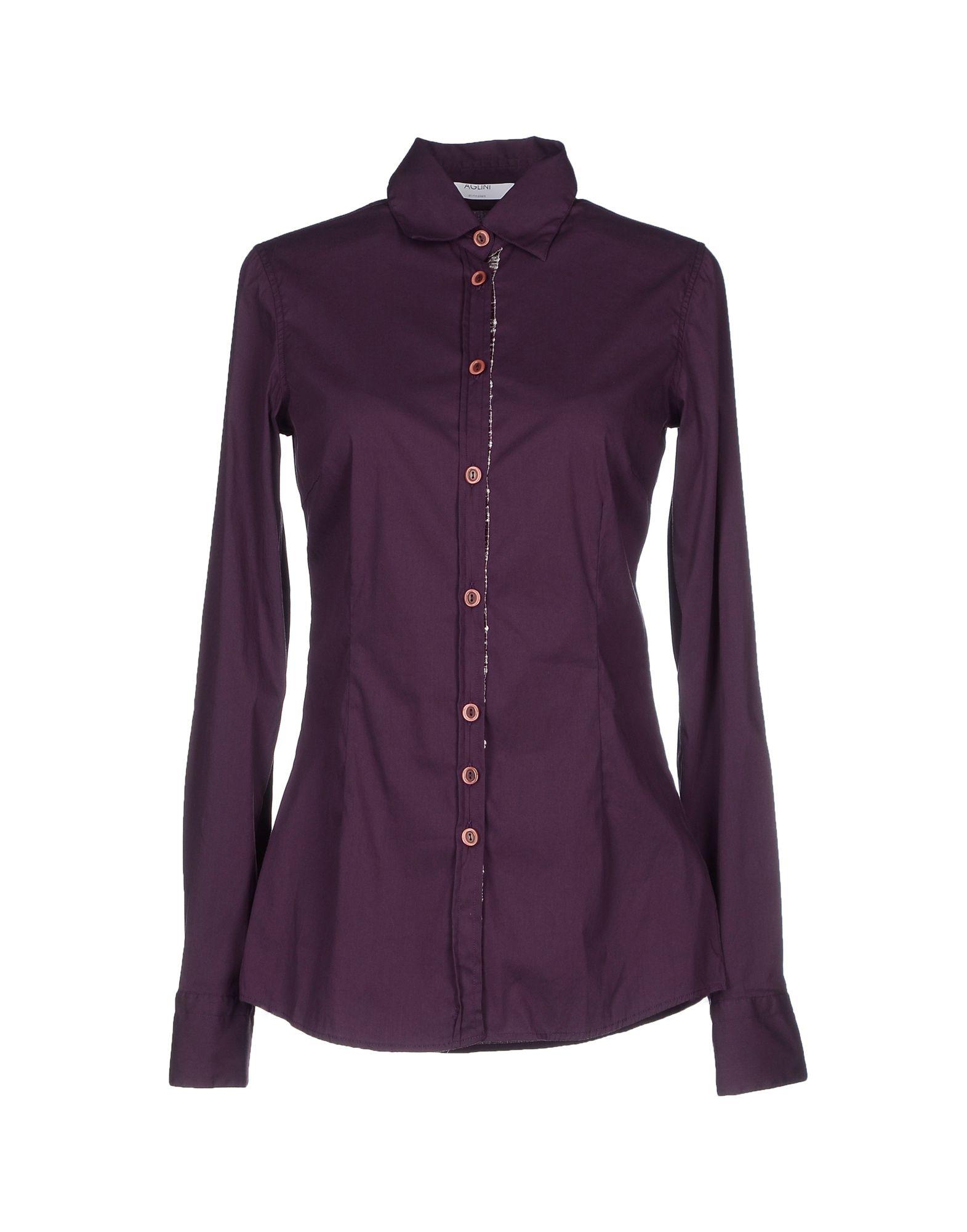 Aglini Shirt in Purple for Men | Lyst