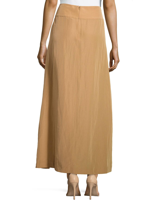 donna karan a line maxi skirt in lyst