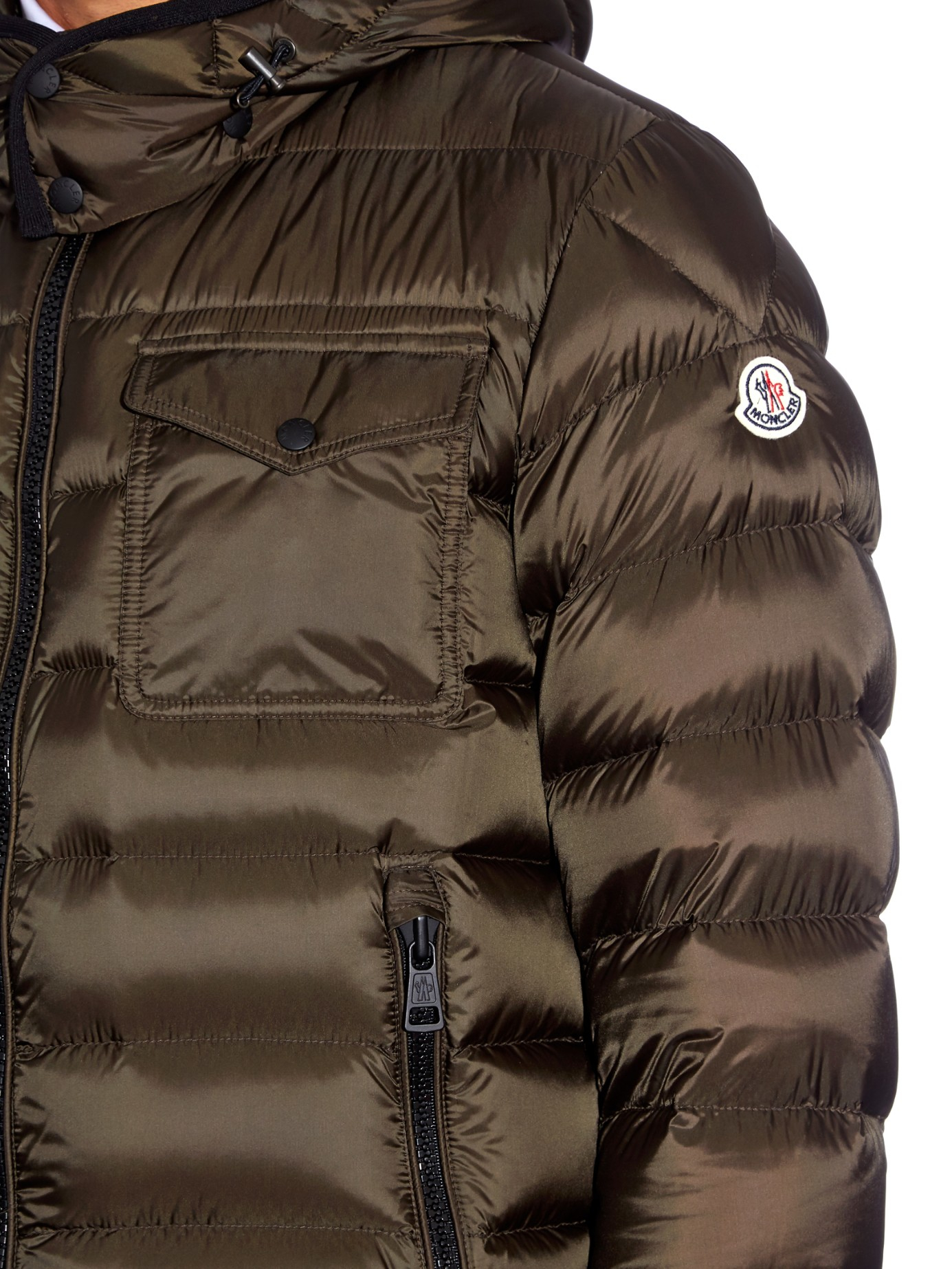c0a86dbdba61 Moncler Edward Hooded Quilted Down Jacket in Natural for Men - Lyst