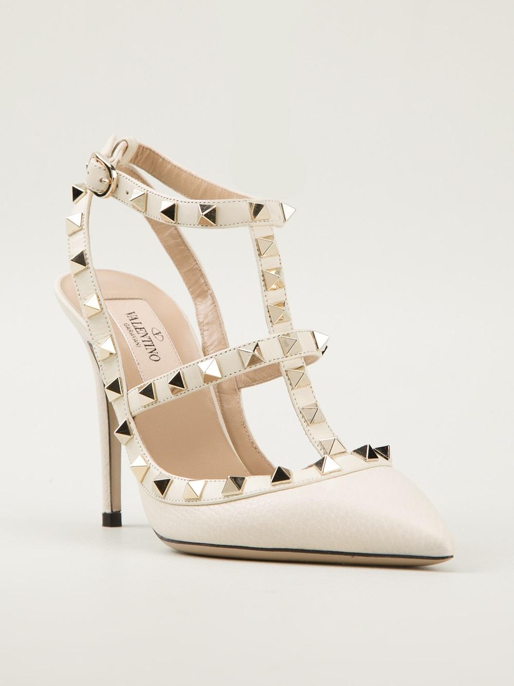 Valentino Stud Shoes White