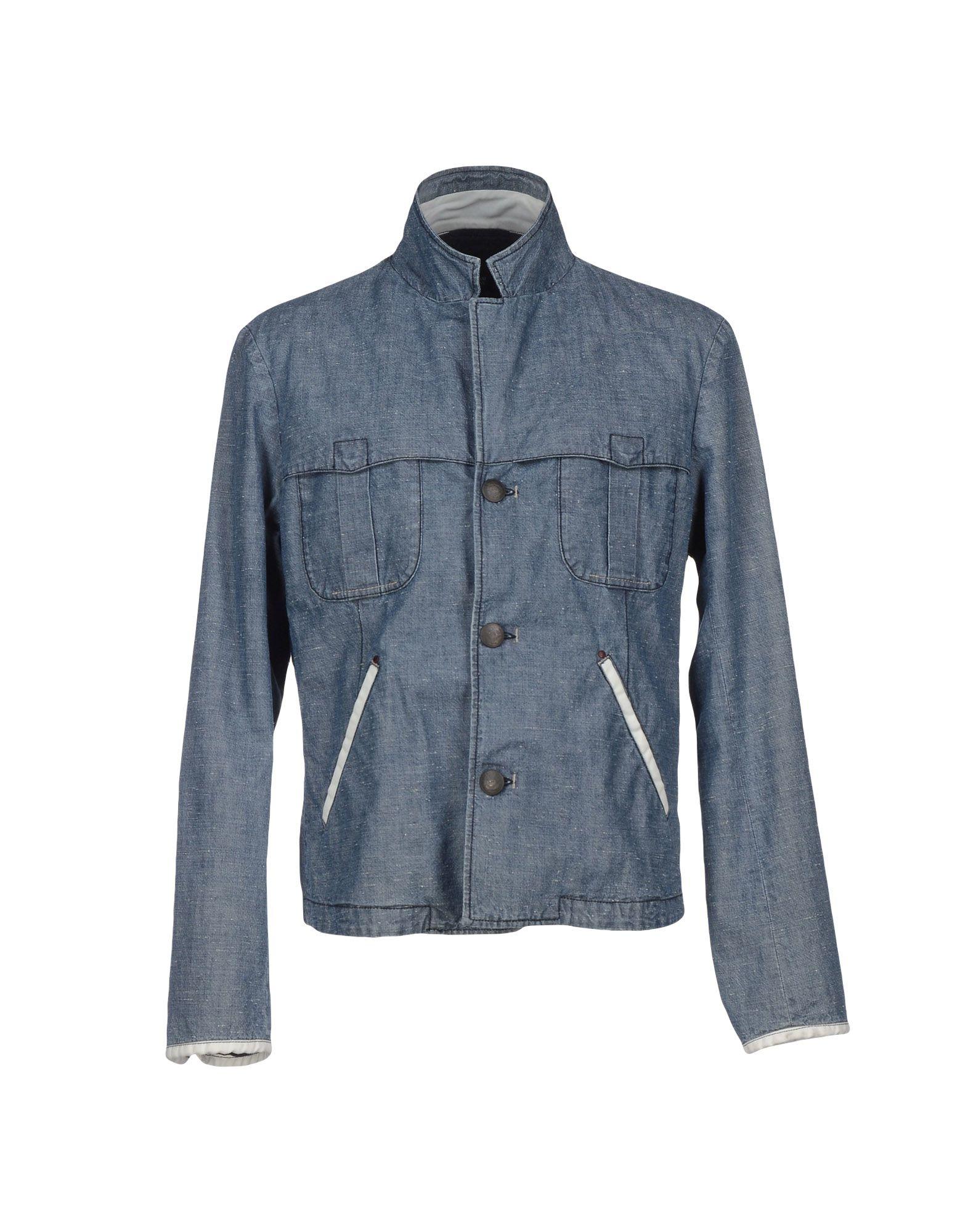 armani denim outerwear in blue for lyst