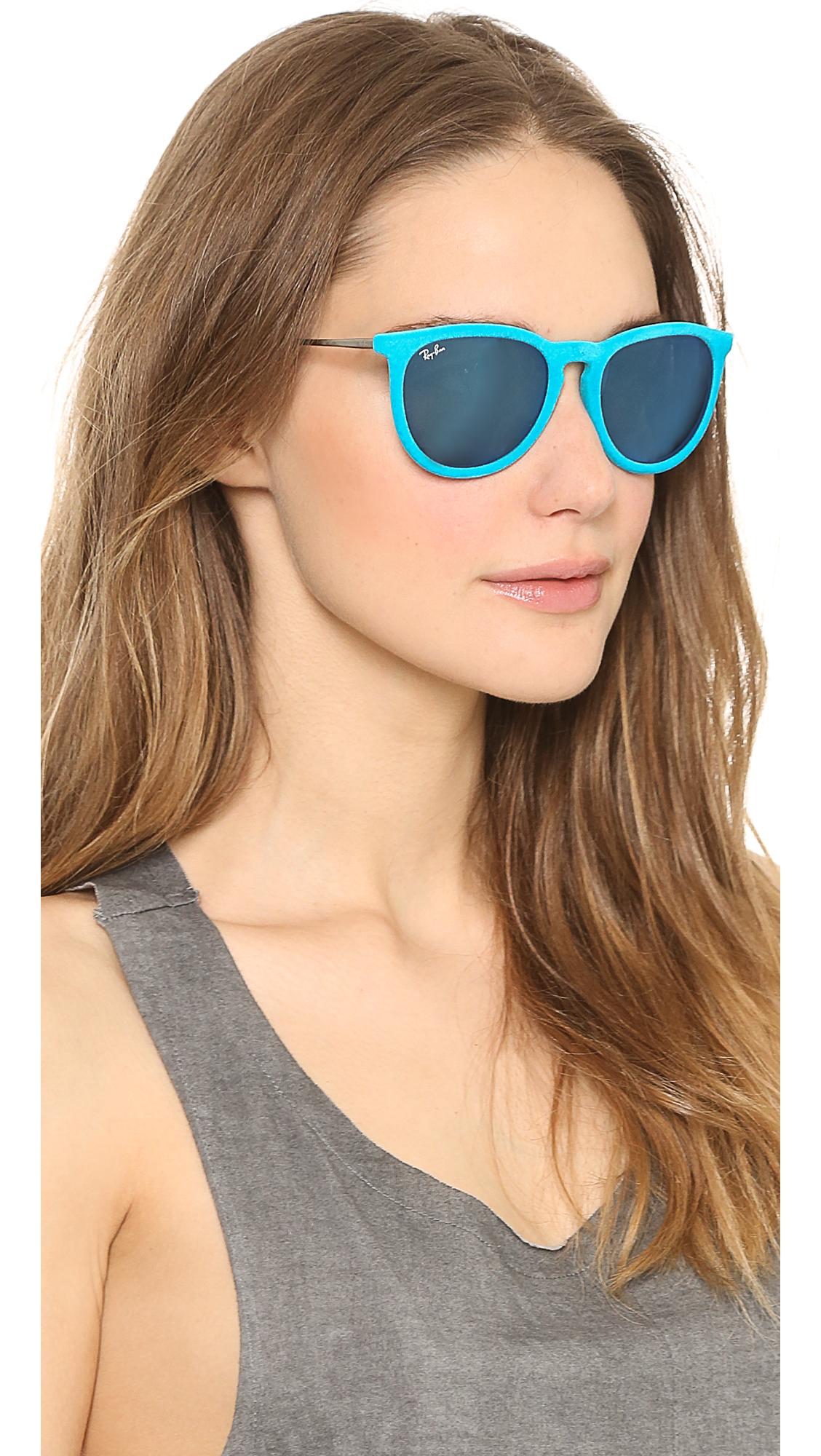 Lyst - Ray-Ban Erika Velvet Sunglasses - Violet in Blue 10cc376c9
