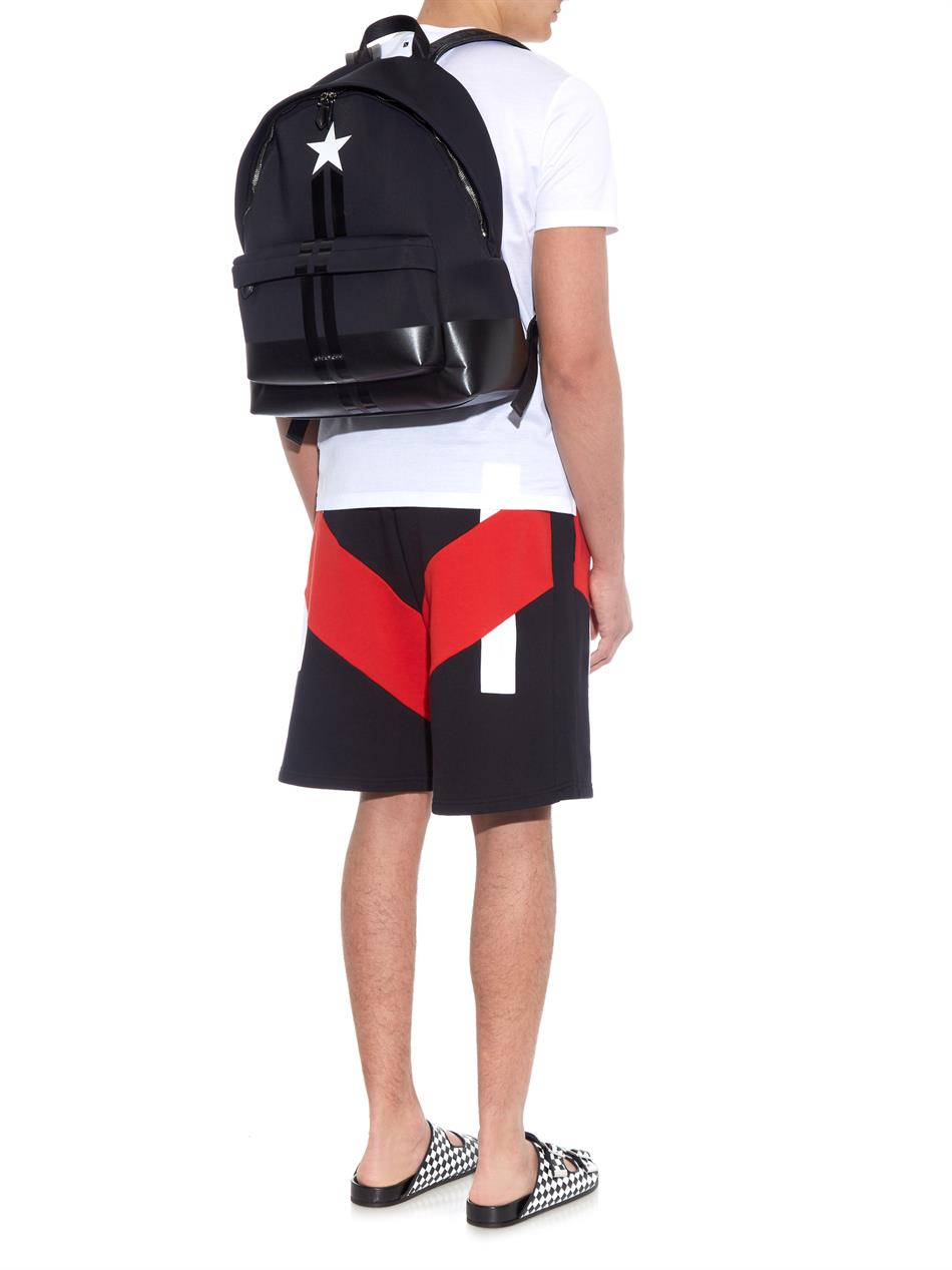 b9e6434622b Givenchy Star And Stripes Neoprene Backpack in Black for Men - Lyst