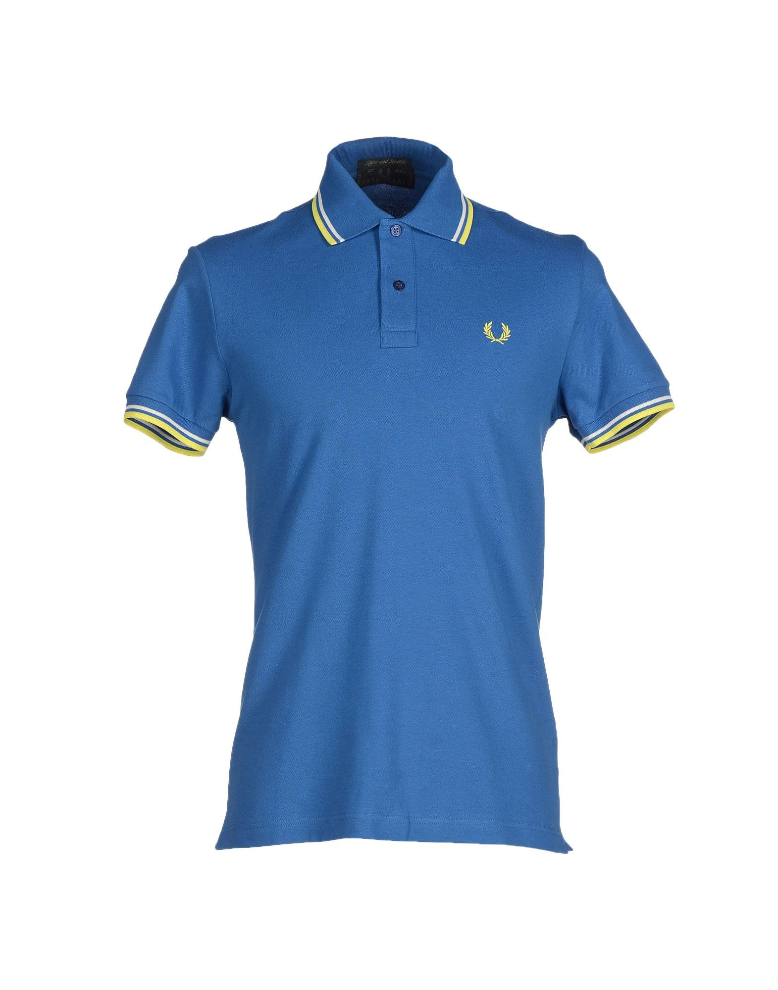 lyst fred perry polo shirt in blue for men. Black Bedroom Furniture Sets. Home Design Ideas