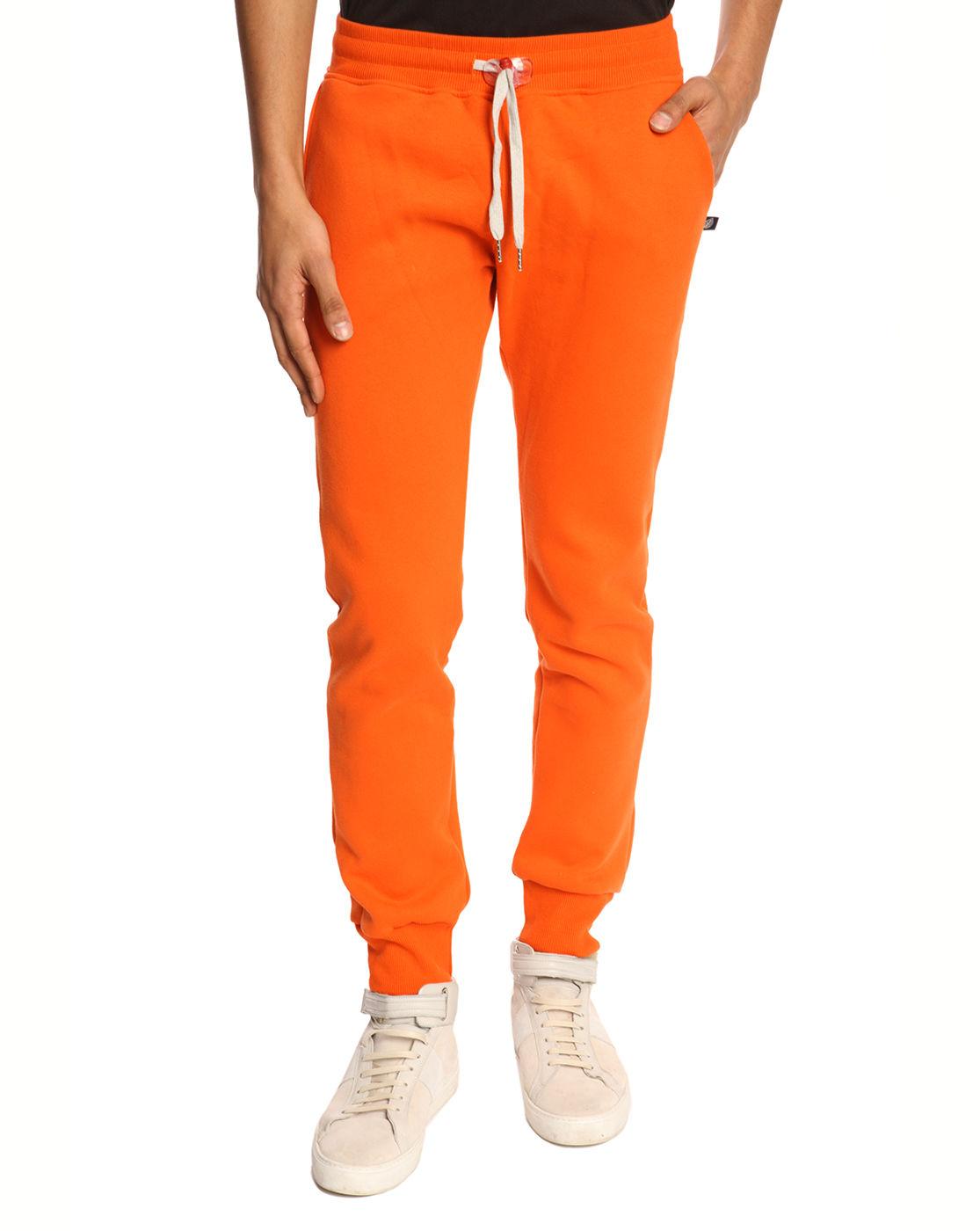 Sweet Pants Slim Fit Orange Jogging Bottoms In Orange For
