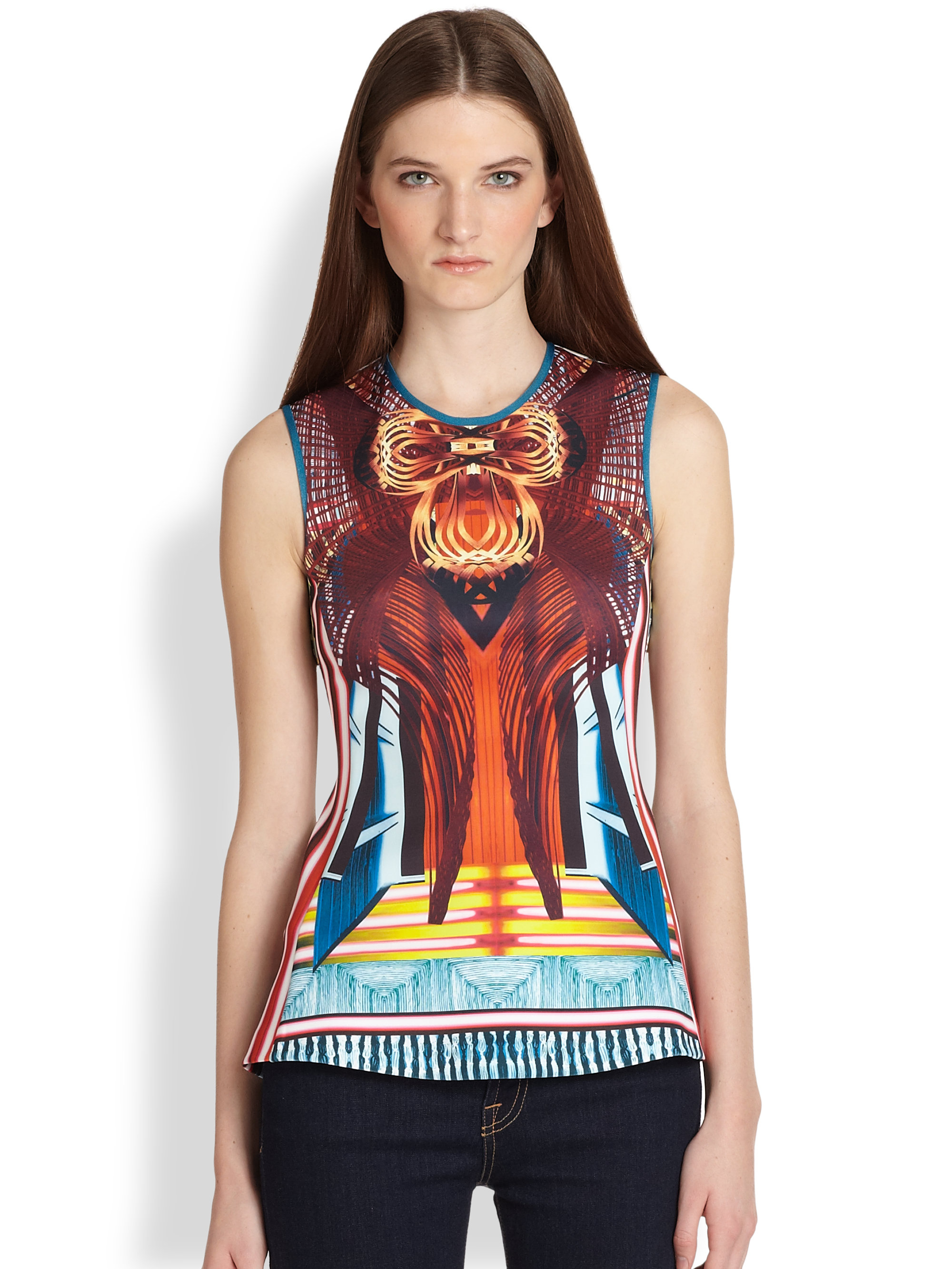 Clover Canyon Furniture Weave Printed Neoprene Top Lyst
