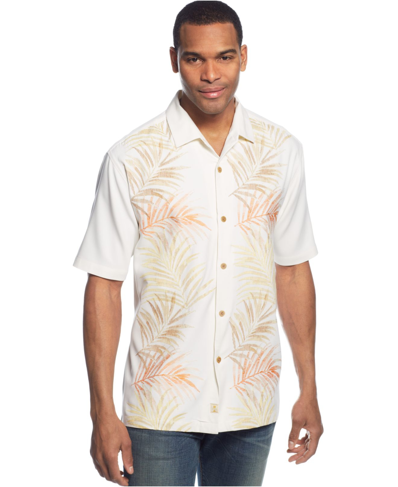 Lyst Tommy Bahama Under The Tuscan Frond Silk Shirt In