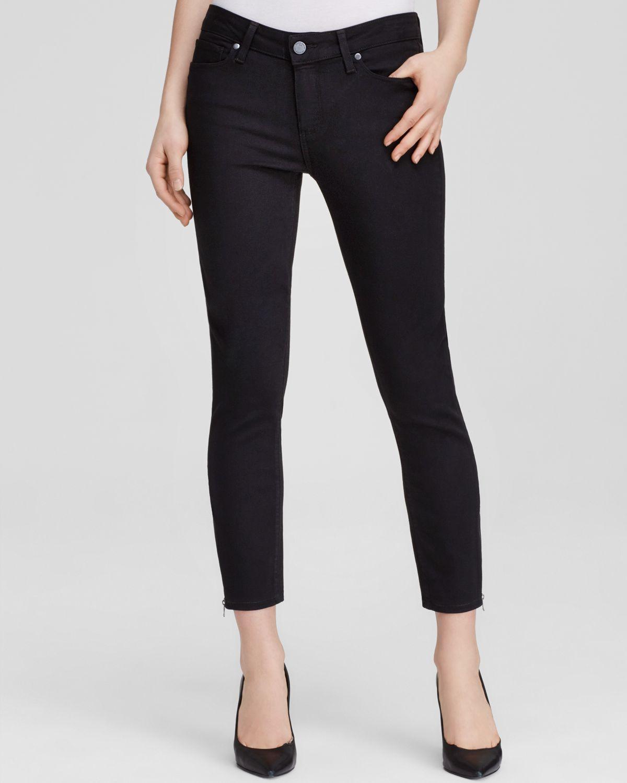 Paige Jeans - Transcend Verdugo Crop Zip In Black Shadow in Black
