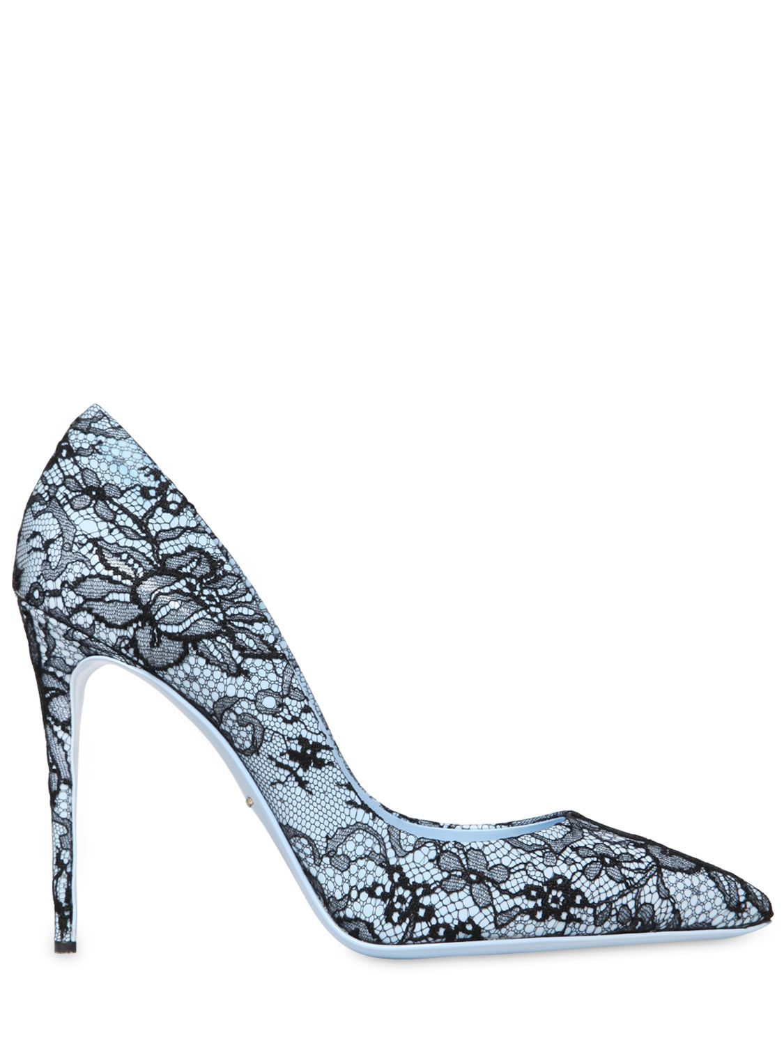 dadf00e71c5f Lyst - Dolce   Gabbana 105Mm Kate Patent Leather   Lace Pumps in Blue
