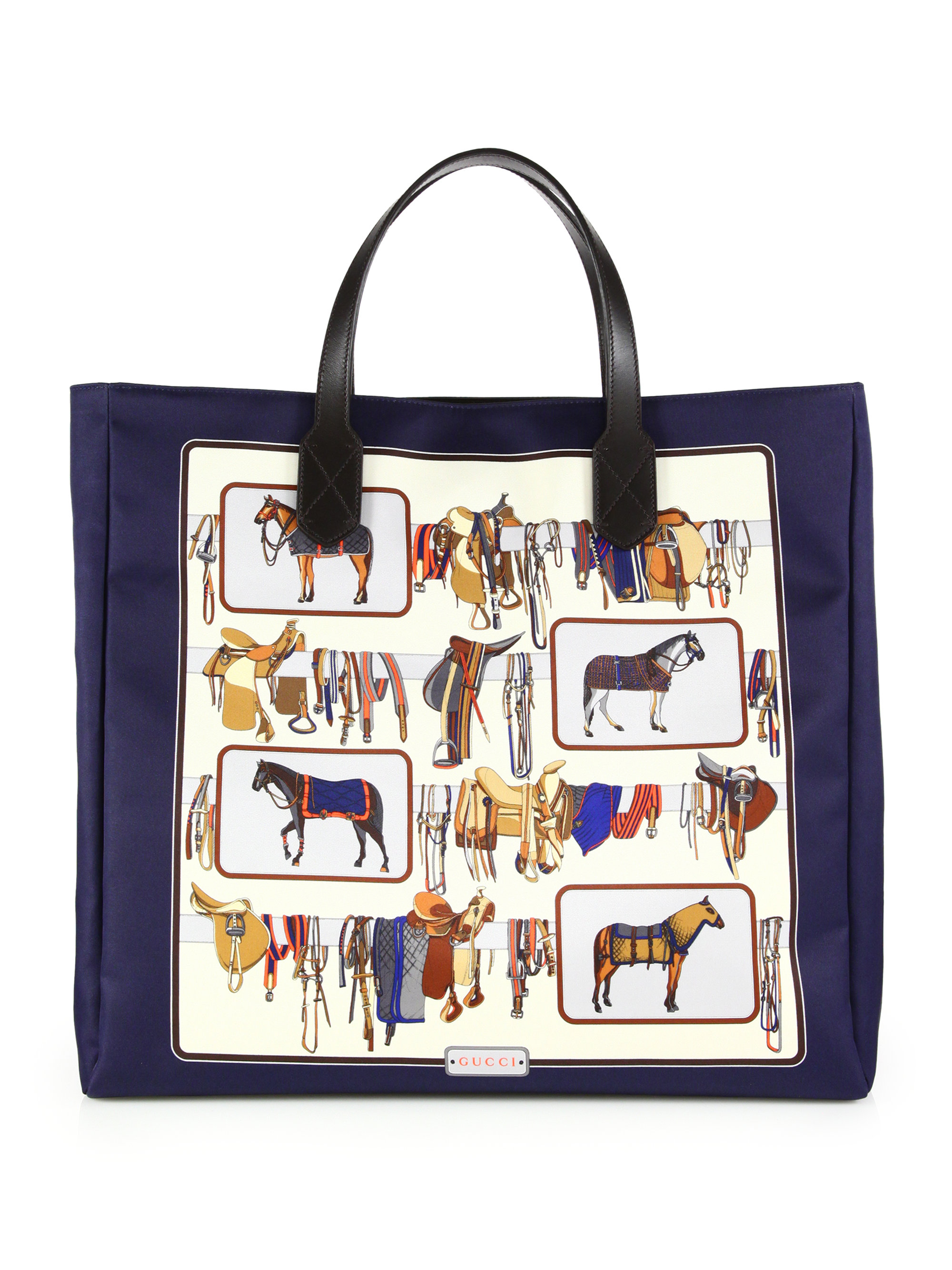 Lyst - Gucci Large Horse Frame Print Tote for Men 3f491b2de4