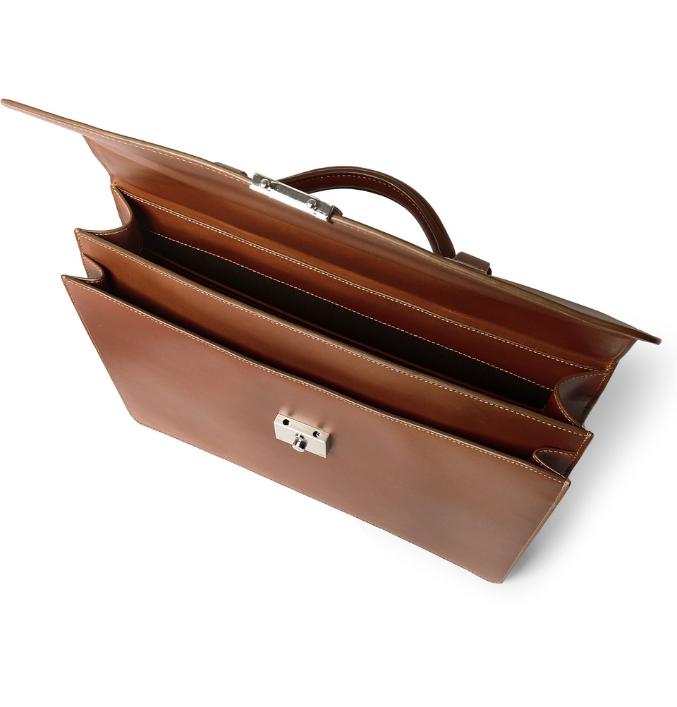 2b3d26325652 ... black leather signature tote briefcase carryall f431d 68b78  cheap lyst  mulberry leather briefcase in brown for men 54869 8b714