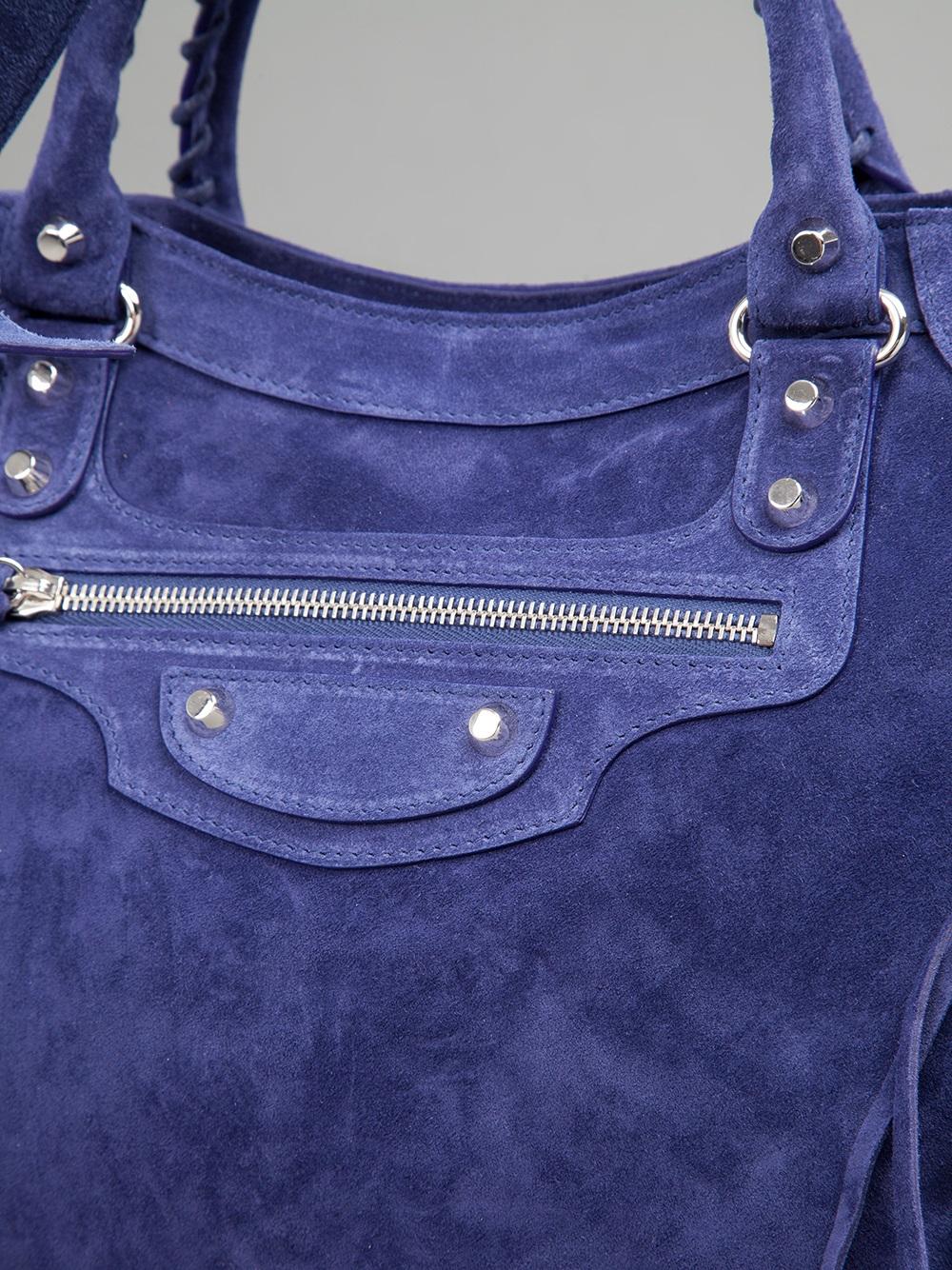 Balenciaga Baby Daim Velo Bag in Purple