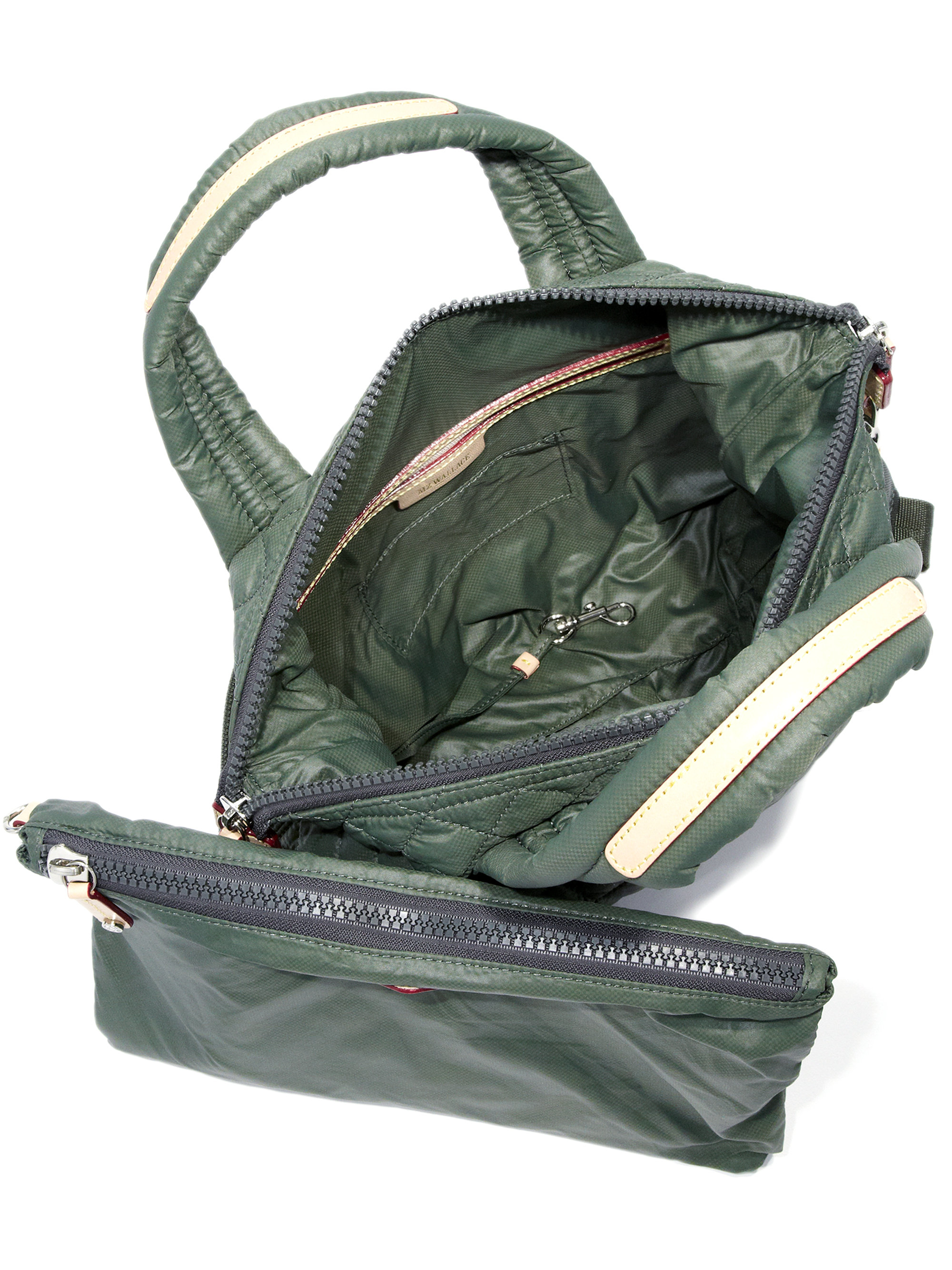Mz Wallace Sutton Small Quilted Nylon Tote In Green Lyst
