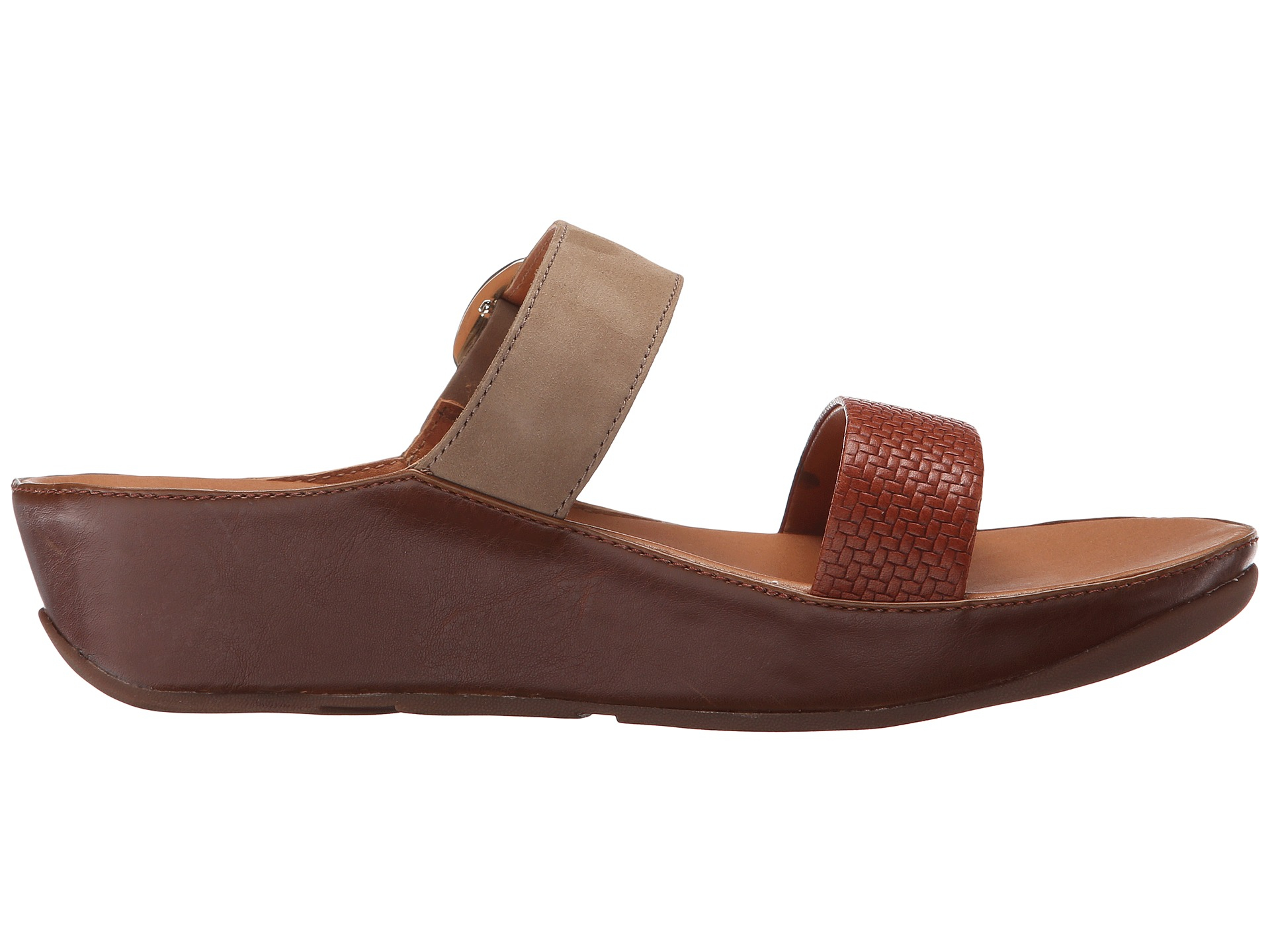 aec3ef83a Lyst - Fitflop Stack Slide in Brown