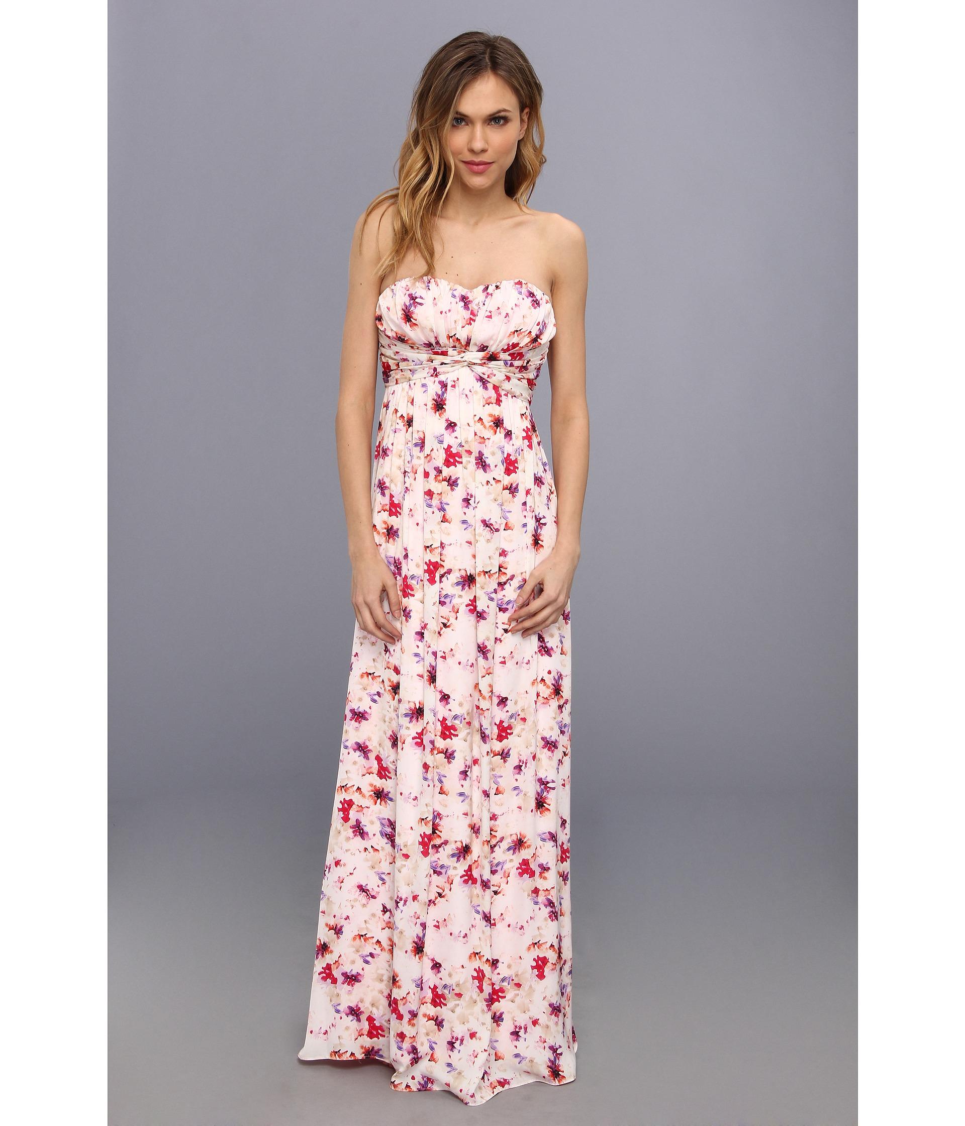 62eb249707c Jessica Simpson Strapless Twist Maxi Dress - Lyst
