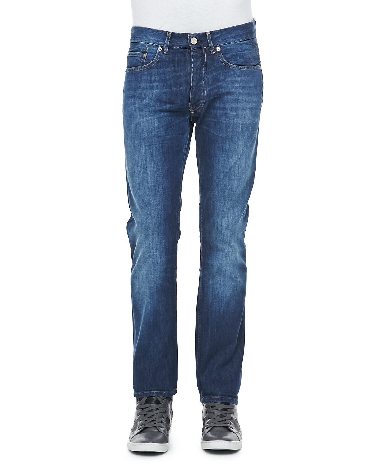 acne studios roc verakai slim fit jeans in blue for men lyst. Black Bedroom Furniture Sets. Home Design Ideas