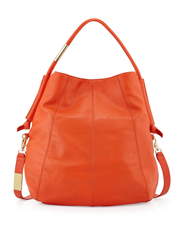Foley   corinna Southside Leather Hobo Bag in Orange | Lyst