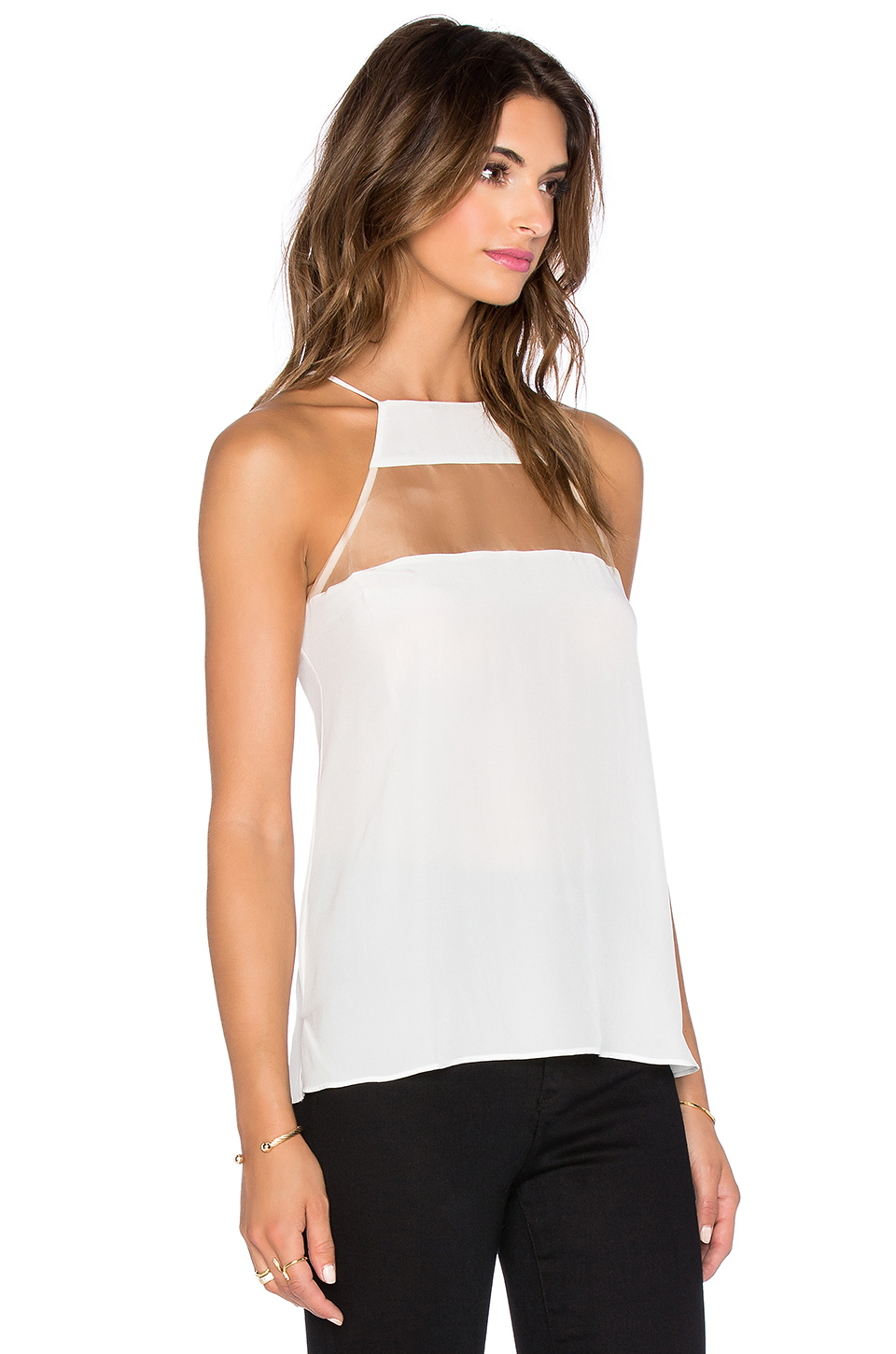 Cami nyc the high top cami in white lyst for Best dress shirts nyc