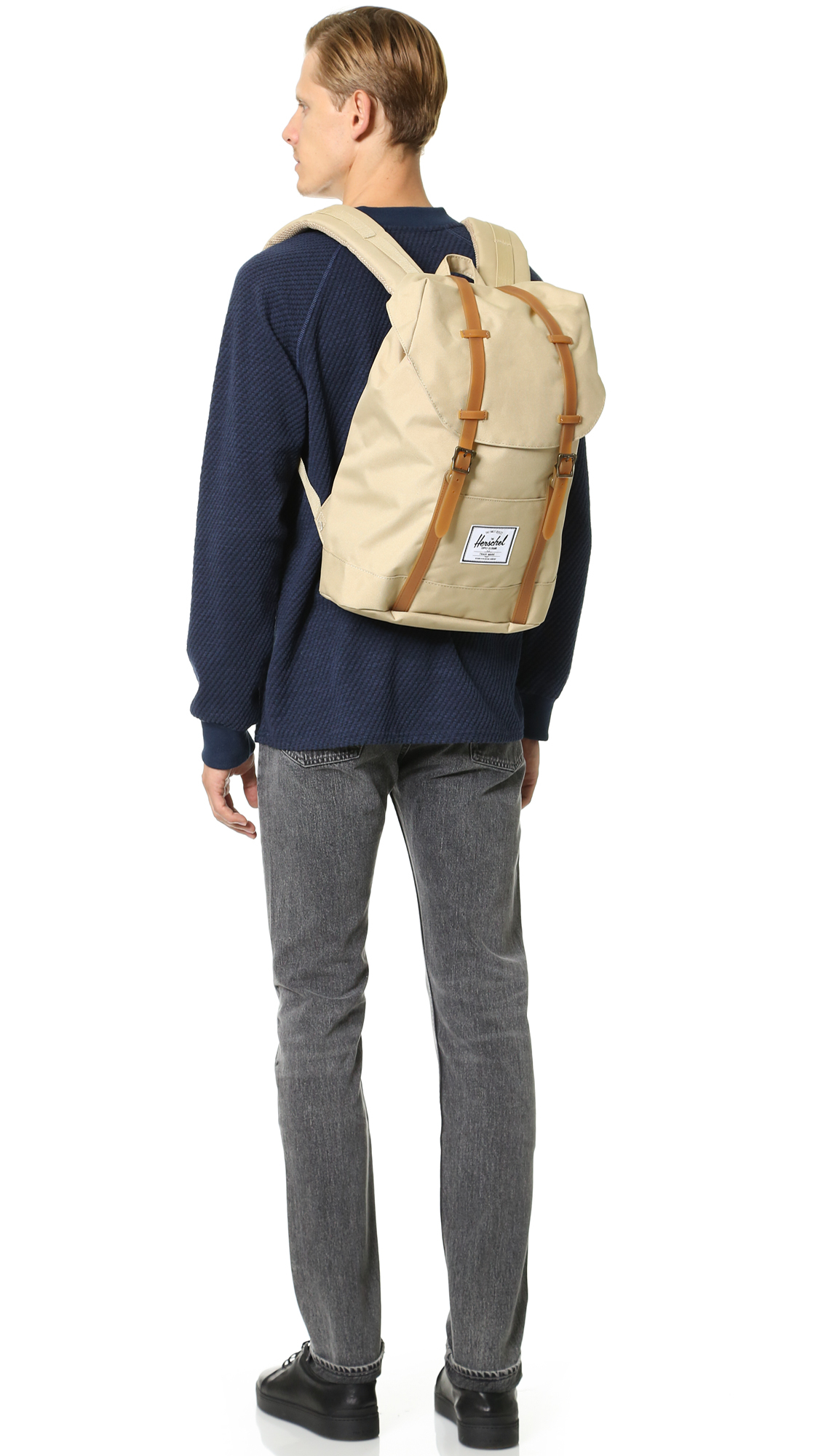 a3a8aa5e51 Lyst - Herschel Supply Co. Retreat Backpack in Natural for Men
